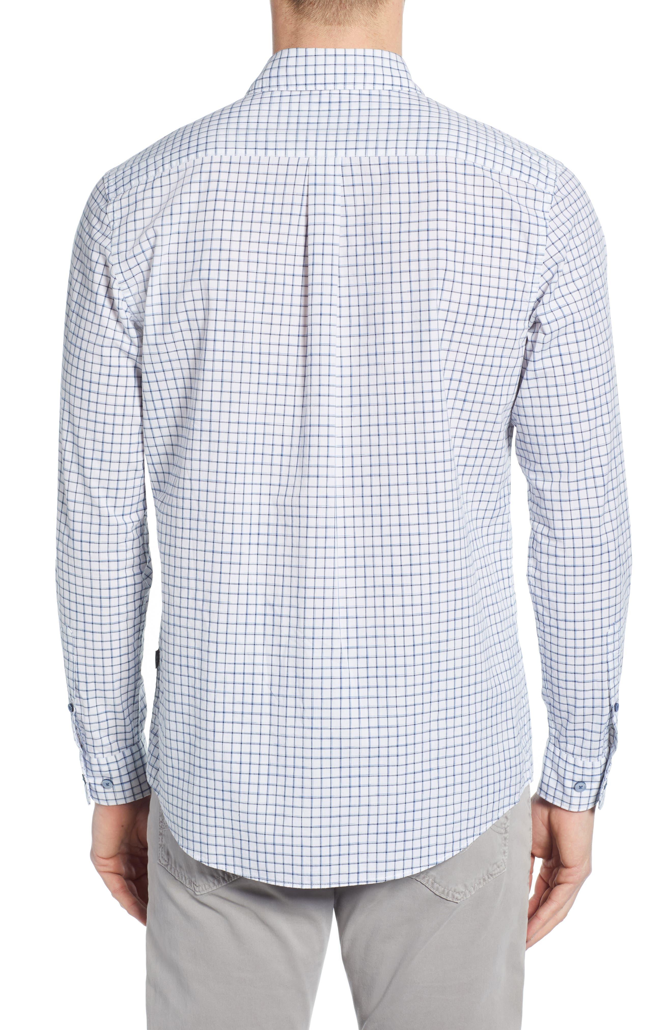 RODD & GUNN, Gowerville Regular Fit Check Sport Shirt, Alternate thumbnail 3, color, SNOW