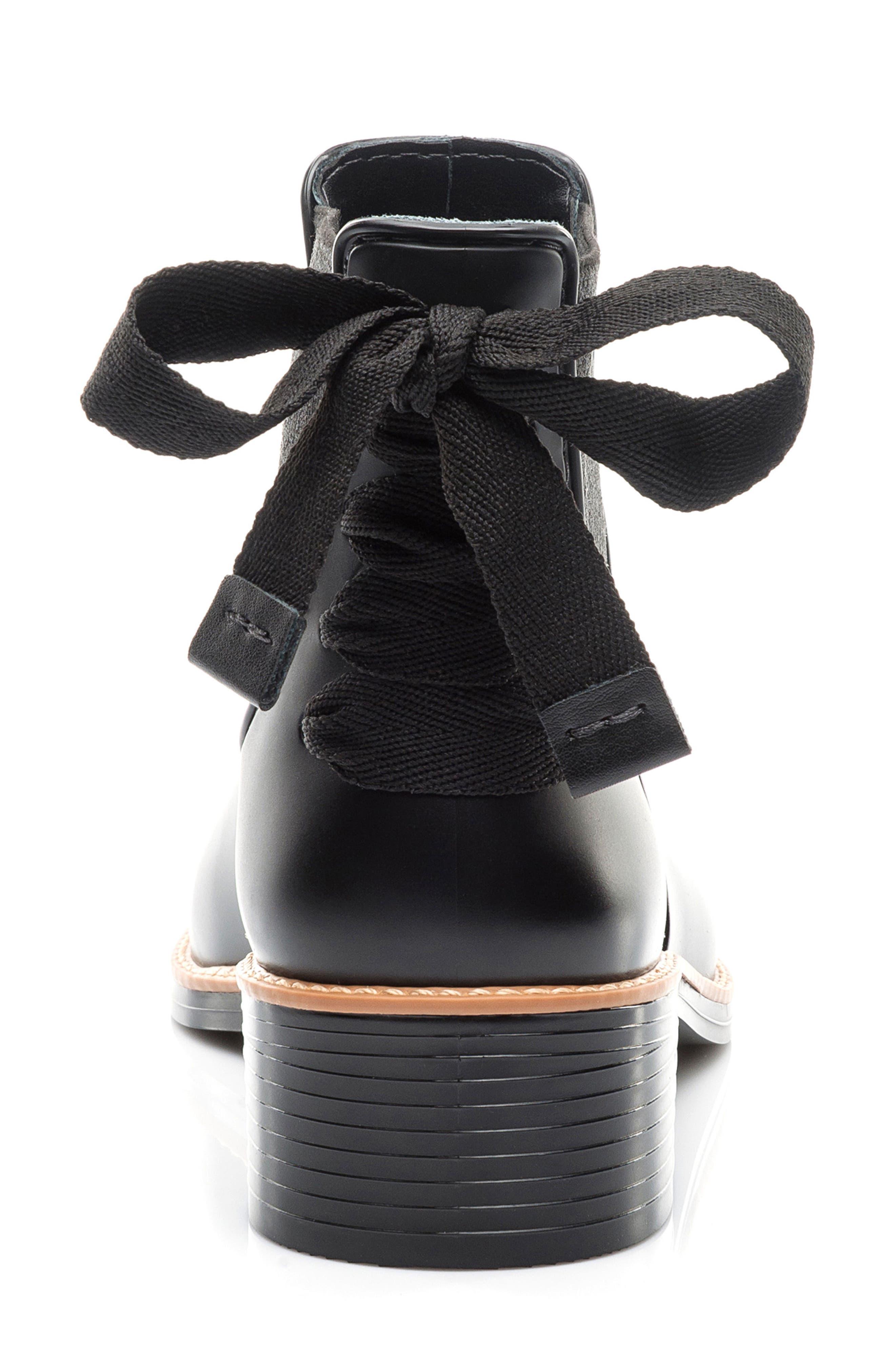 BERNARDO, Paxton Waterproof Rain Boot, Alternate thumbnail 7, color, BLACK