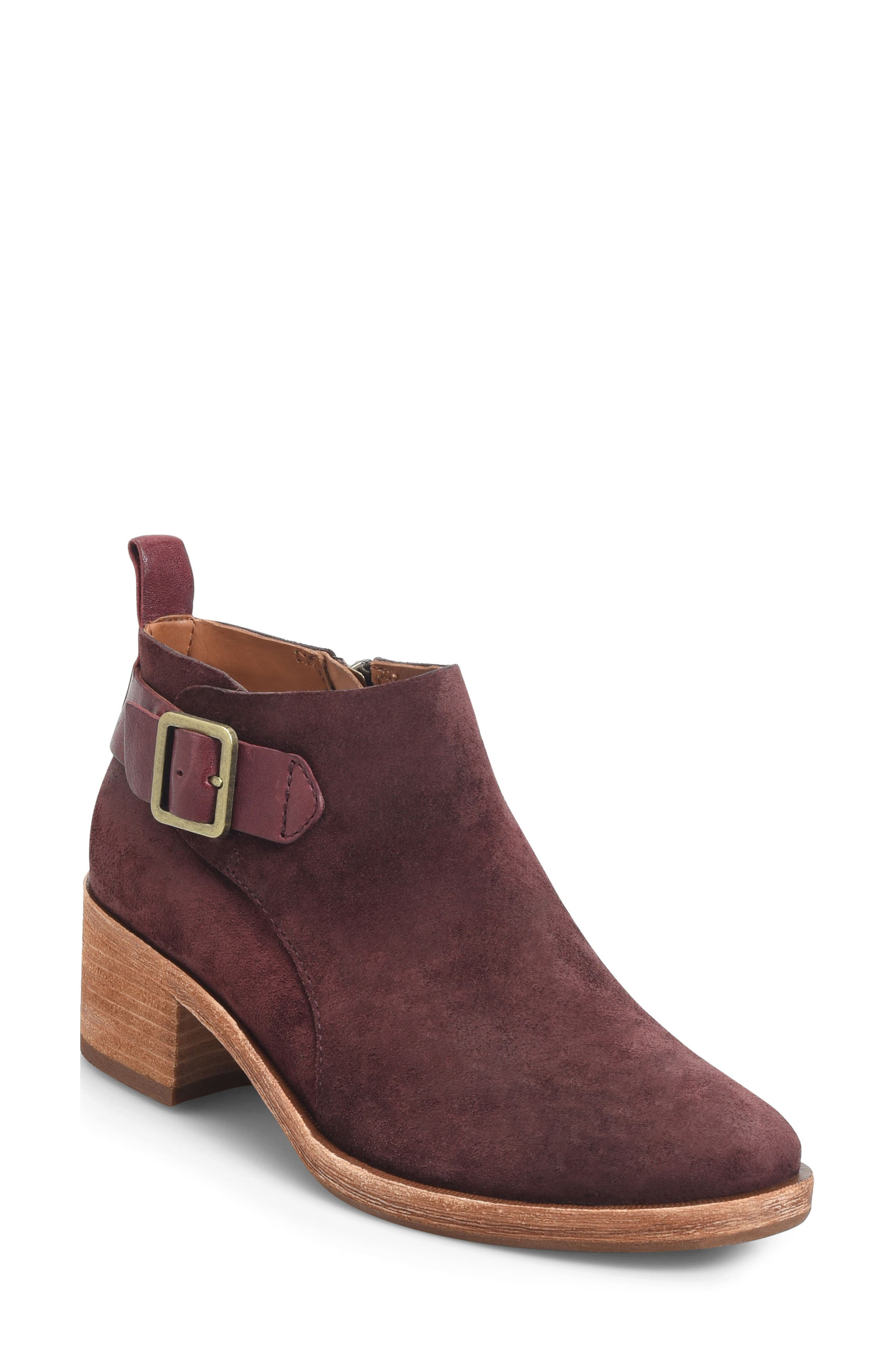 KORK-EASE<SUP>®</SUP>, Mesa Boot, Main thumbnail 1, color, BURGUNDY SUEDE