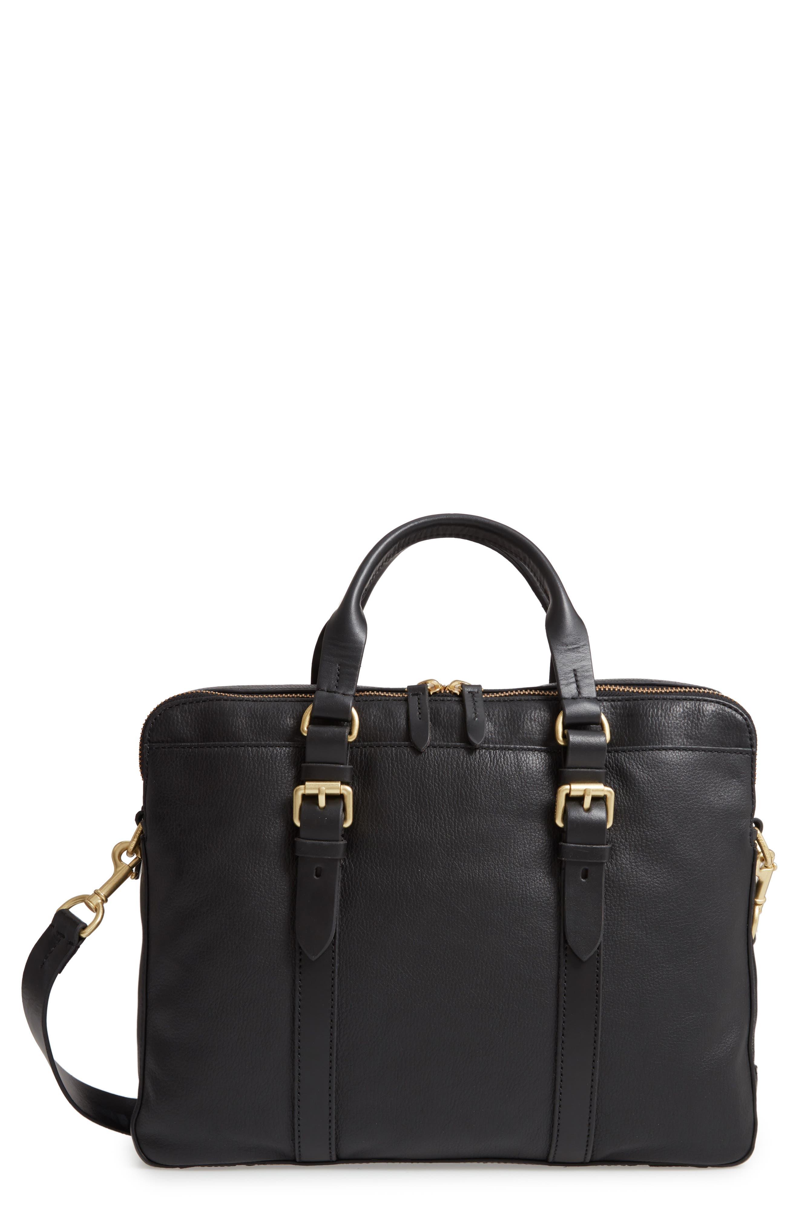 COLE HAAN Matthews Attache Briefcase, Main, color, 001