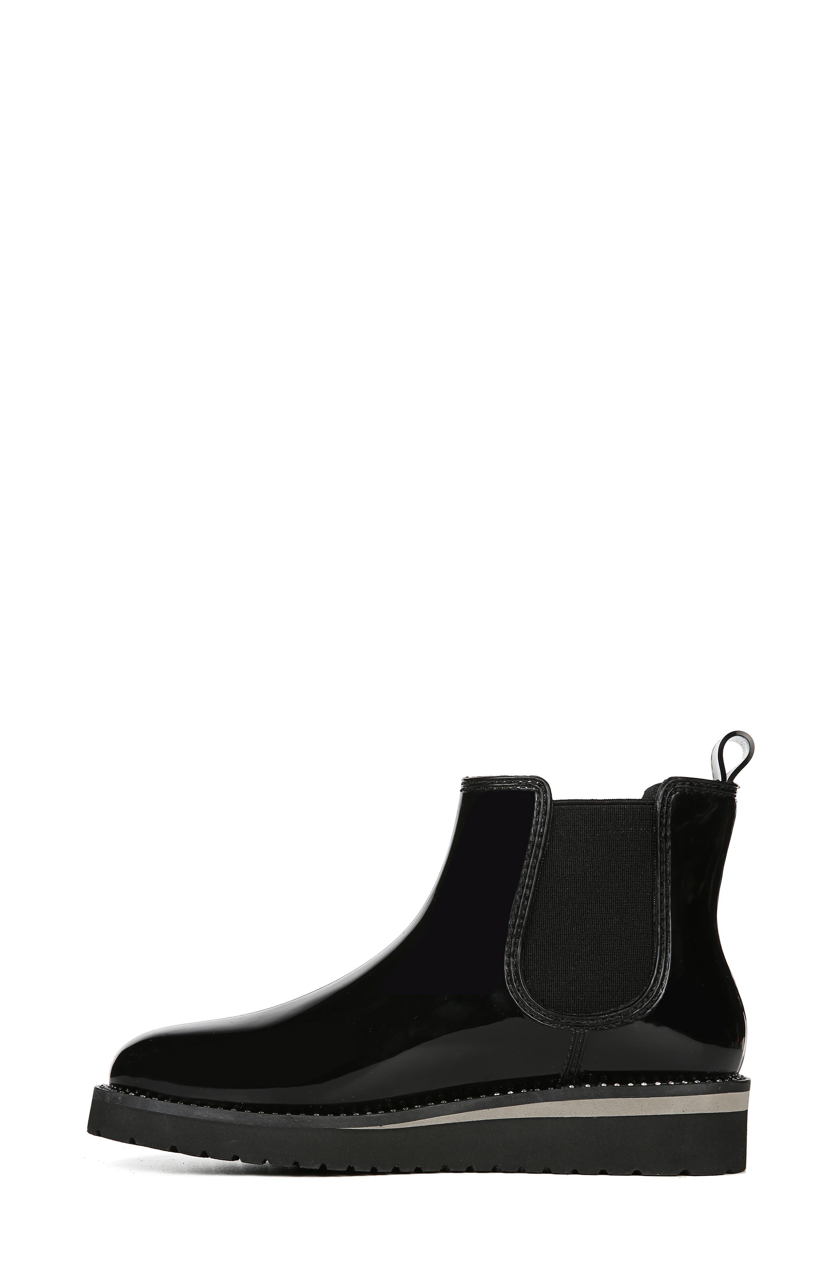 NATURALIZER, Luna Waterproof Chelsea Boot, Alternate thumbnail 7, color, BLACK