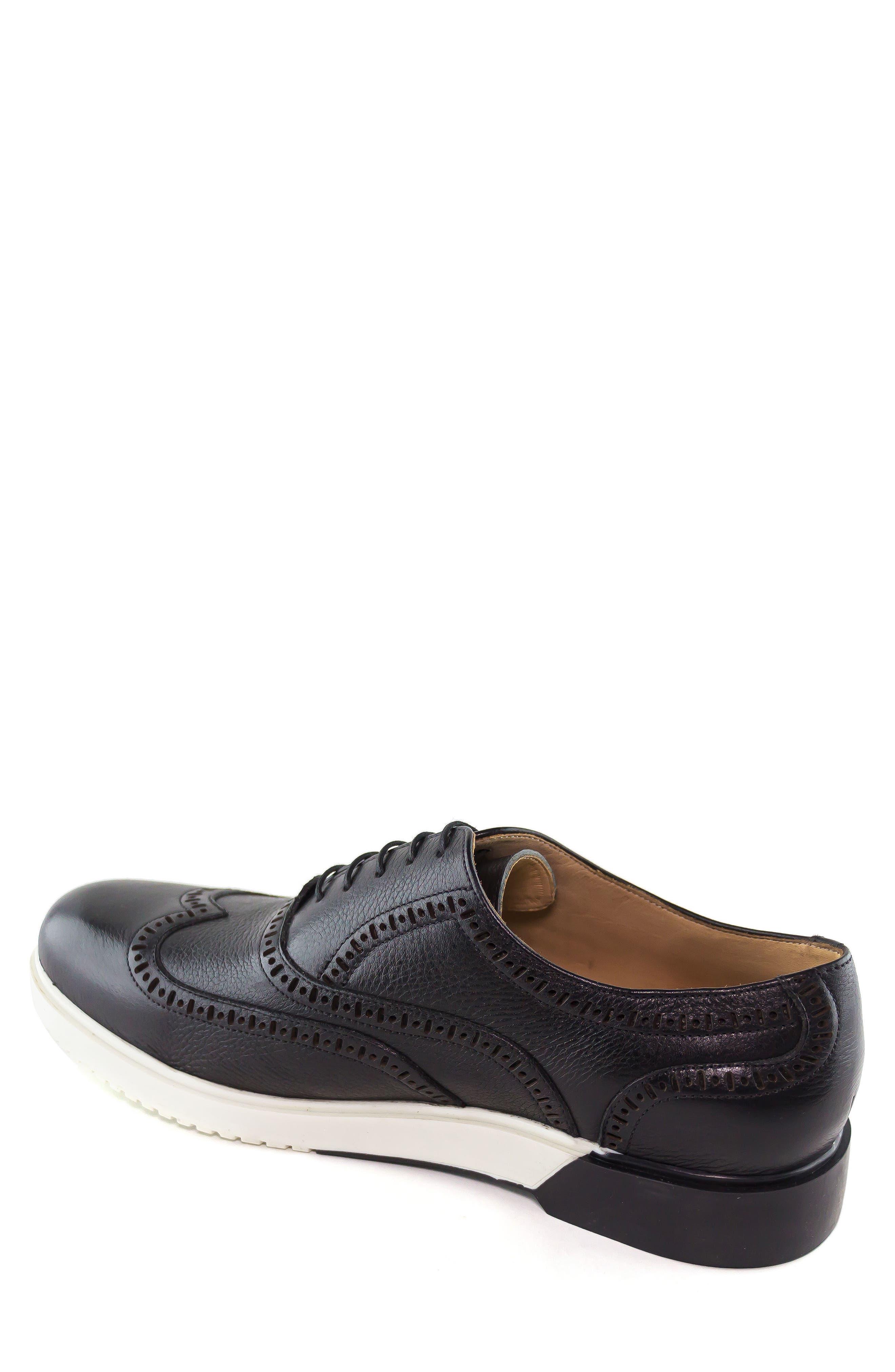 MARC JOSEPH NEW YORK, 5th Ave Wingtip Sneaker, Alternate thumbnail 2, color, 001