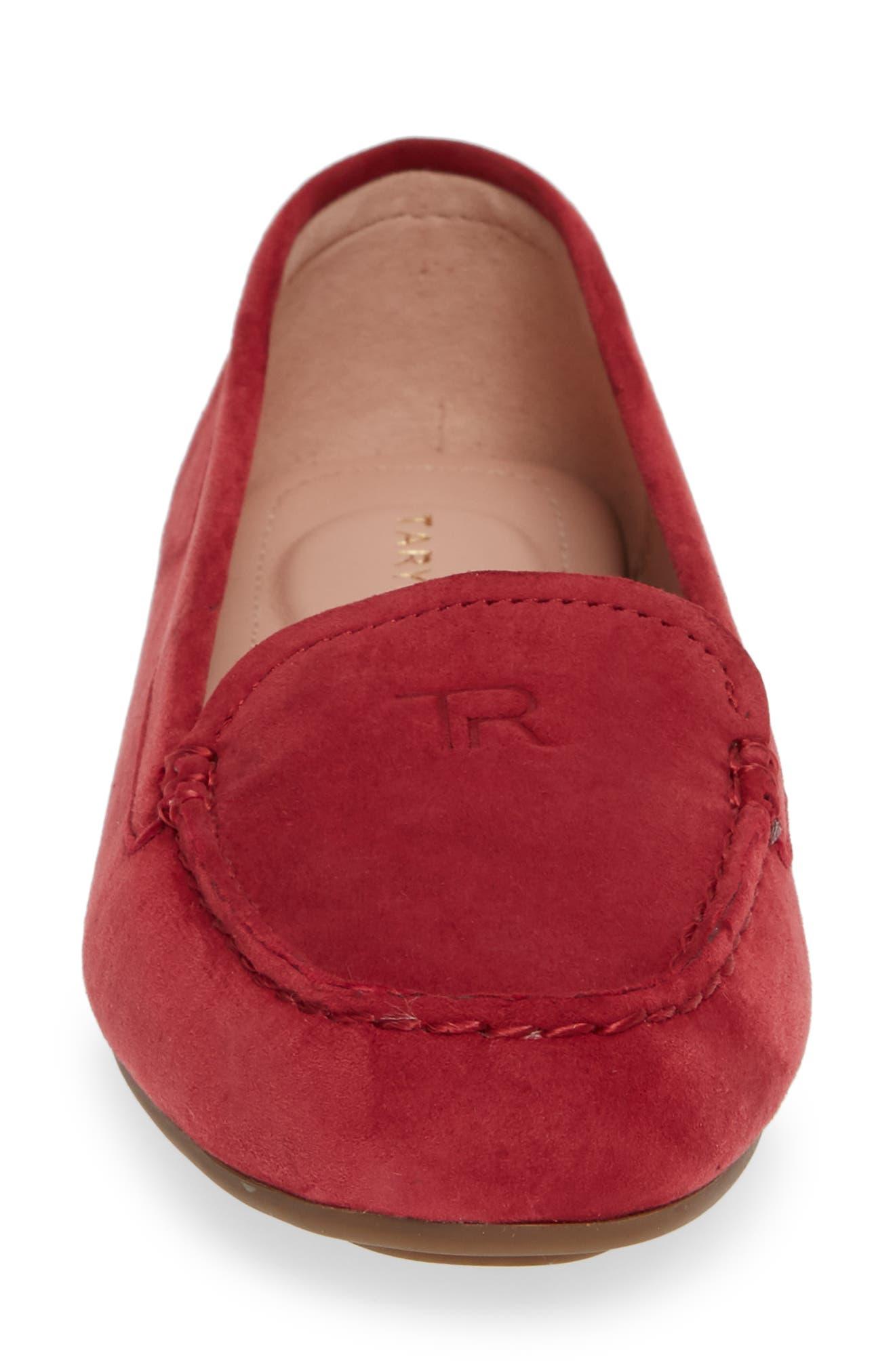 TARYN ROSE, Karen Water Resistant Driving Loafer, Alternate thumbnail 4, color, 602