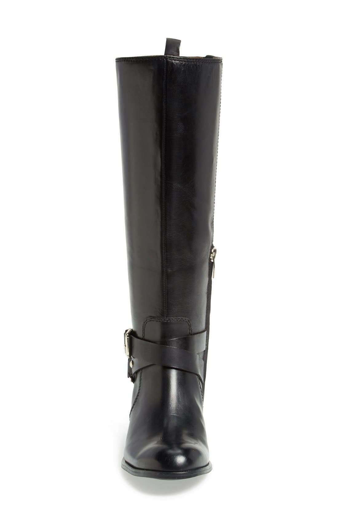 ENZO ANGIOLINI, 'Daniana' Leather Riding Boot, Alternate thumbnail 3, color, 001