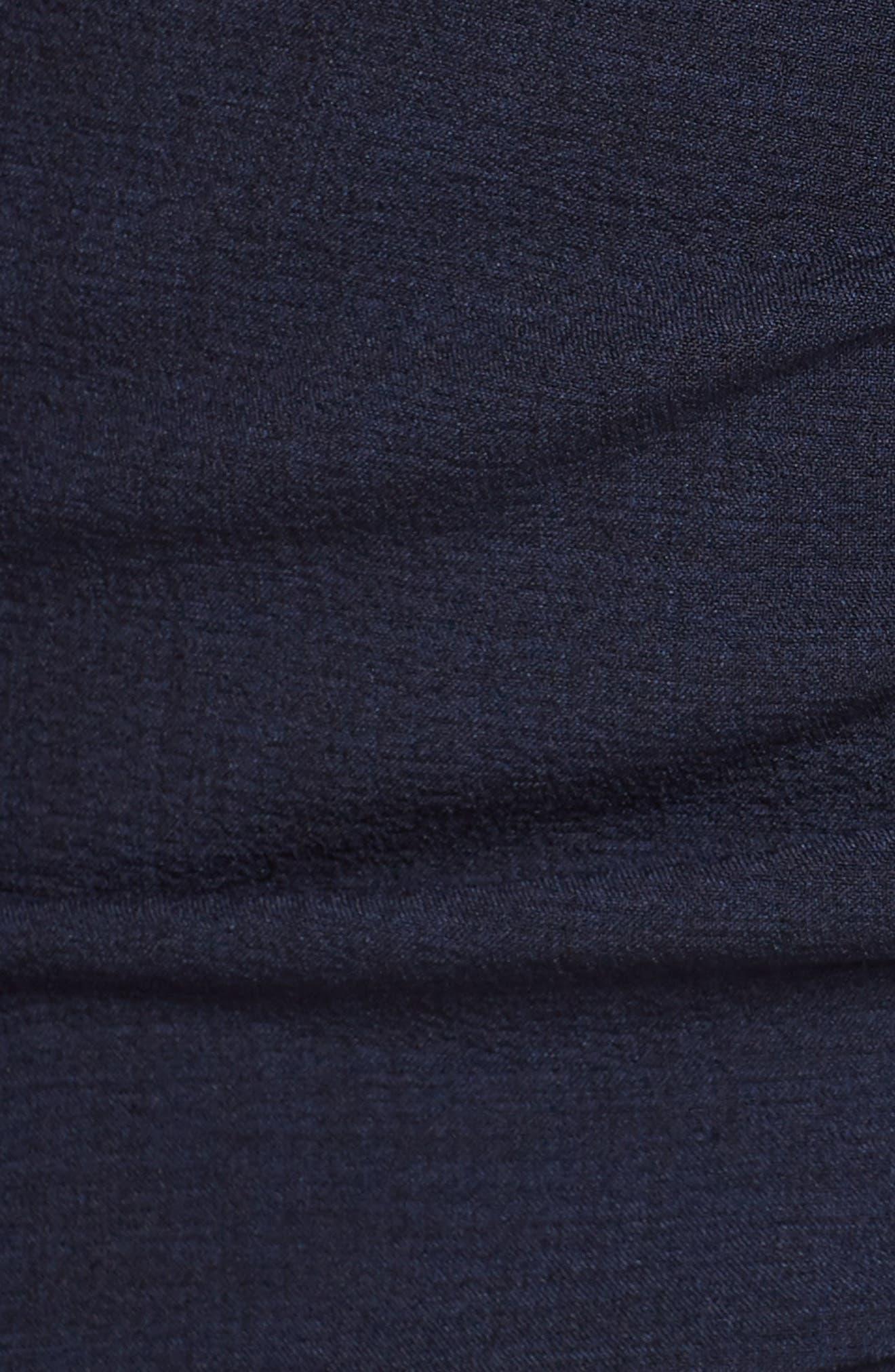 CHELSEA28, Ruffle Front Sheath Dress, Alternate thumbnail 6, color, 410