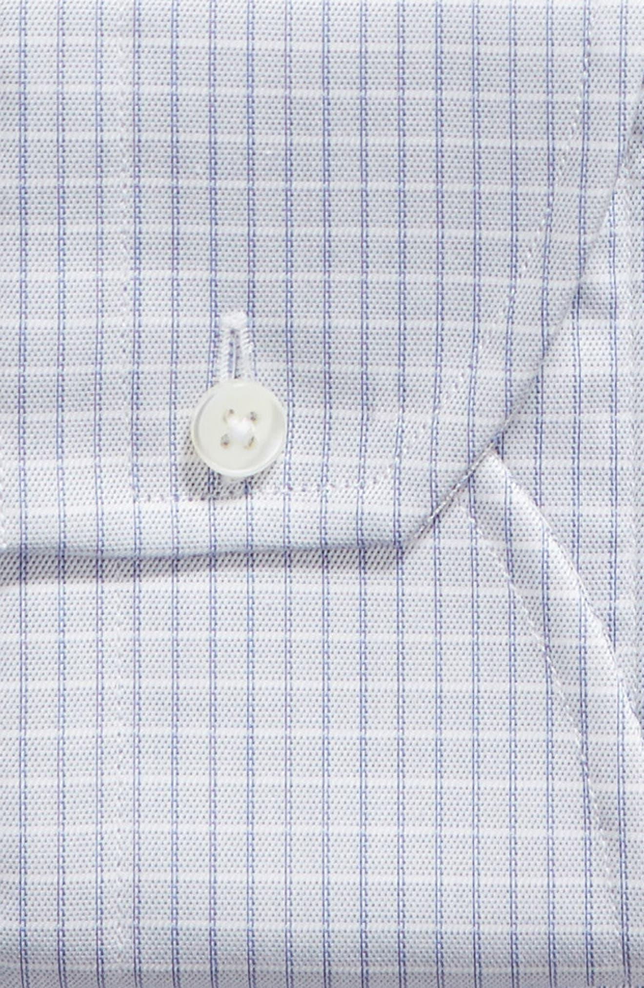 CANALI, Regular Fit Check Dress Shirt, Alternate thumbnail 2, color, LIGHT BLUE