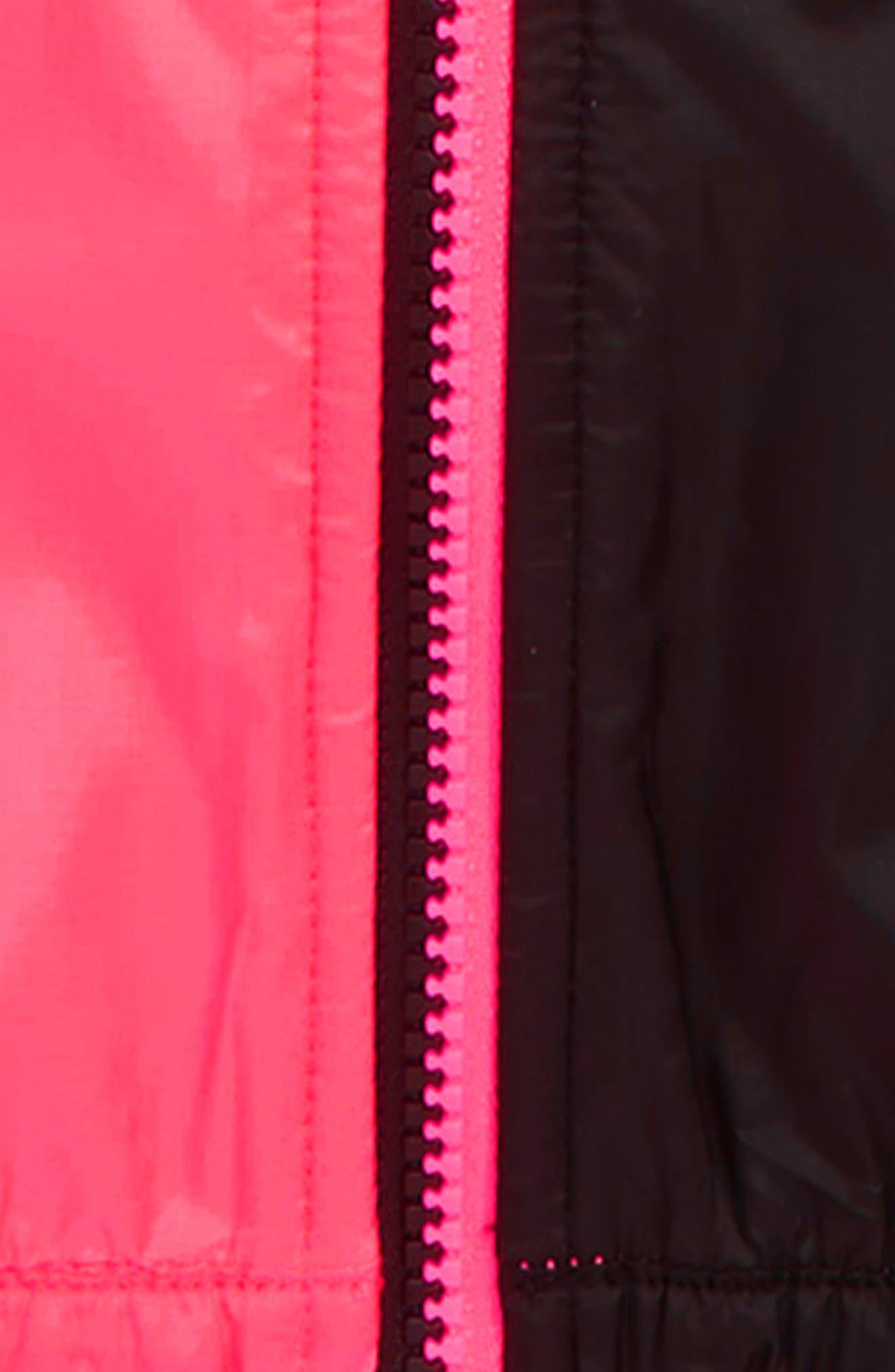 NIKE, Windrunner Water Repellent Hooded Jacket, Alternate thumbnail 2, color, RACER PINK