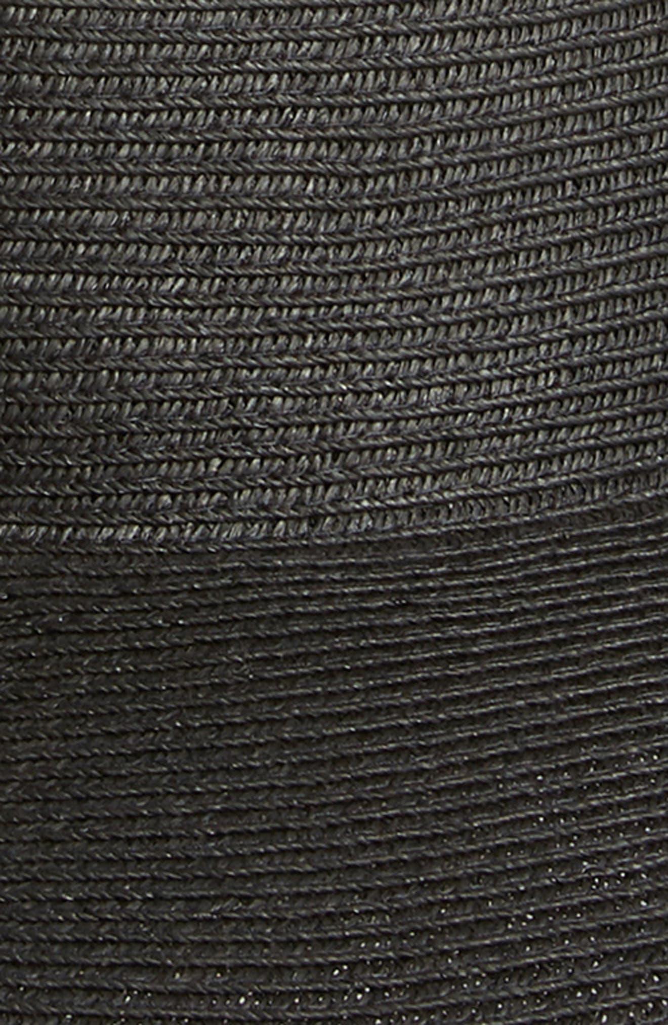 SAN DIEGO HAT, Ultrabraid XL Brim Hat, Alternate thumbnail 2, color, BLACK