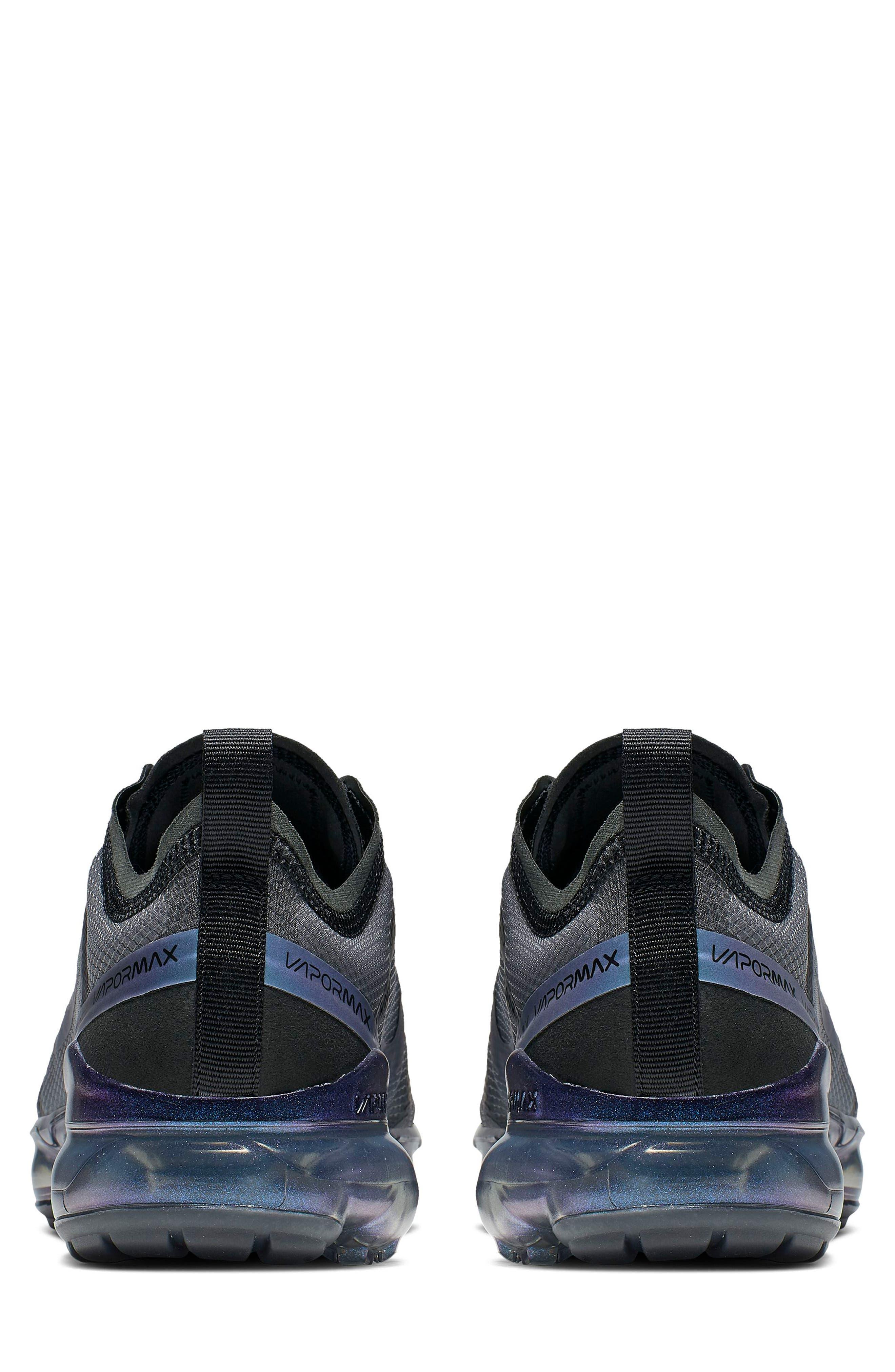 NIKE, Air VaporMax 2019 Running Shoe, Alternate thumbnail 2, color, BLACK/ MULTI COLOR