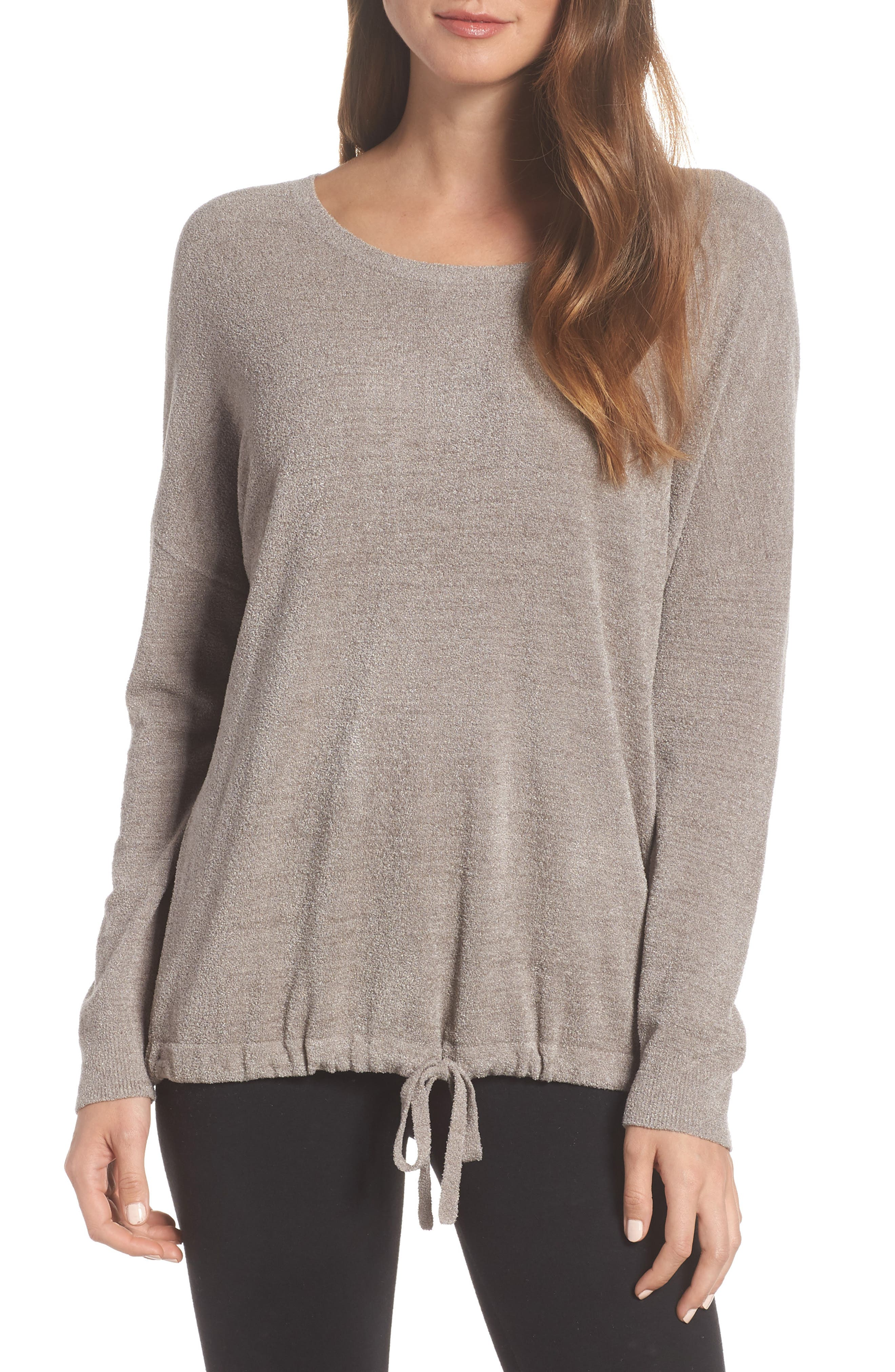 BAREFOOT DREAMS<SUP>®</SUP>, Cozychic Ultra Lite<sup>®</sup> Lounge Pullover, Main thumbnail 1, color, BEACH ROCK
