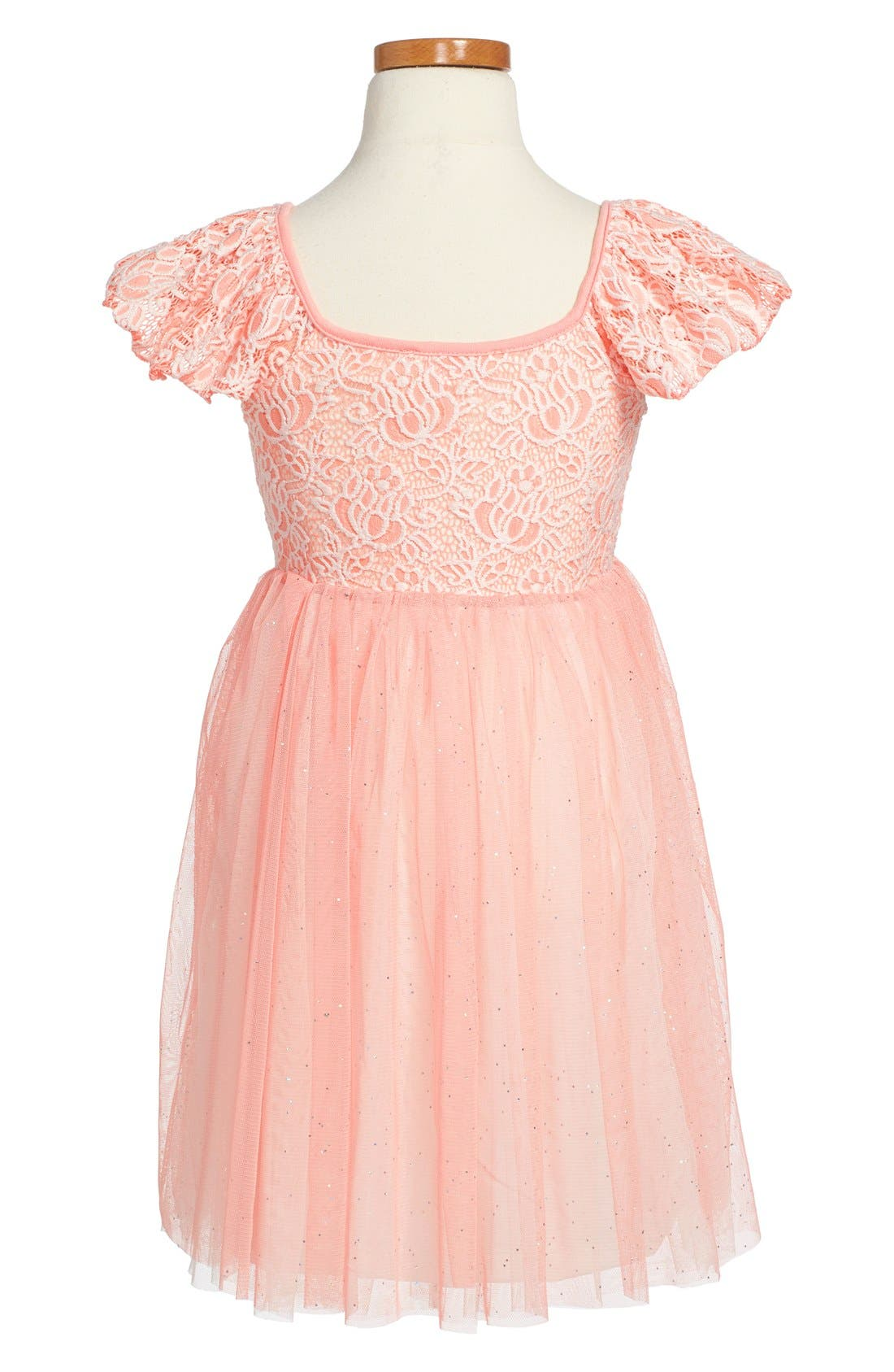 POPATU, Tulle Skirt Party Dress, Alternate thumbnail 2, color, PINK
