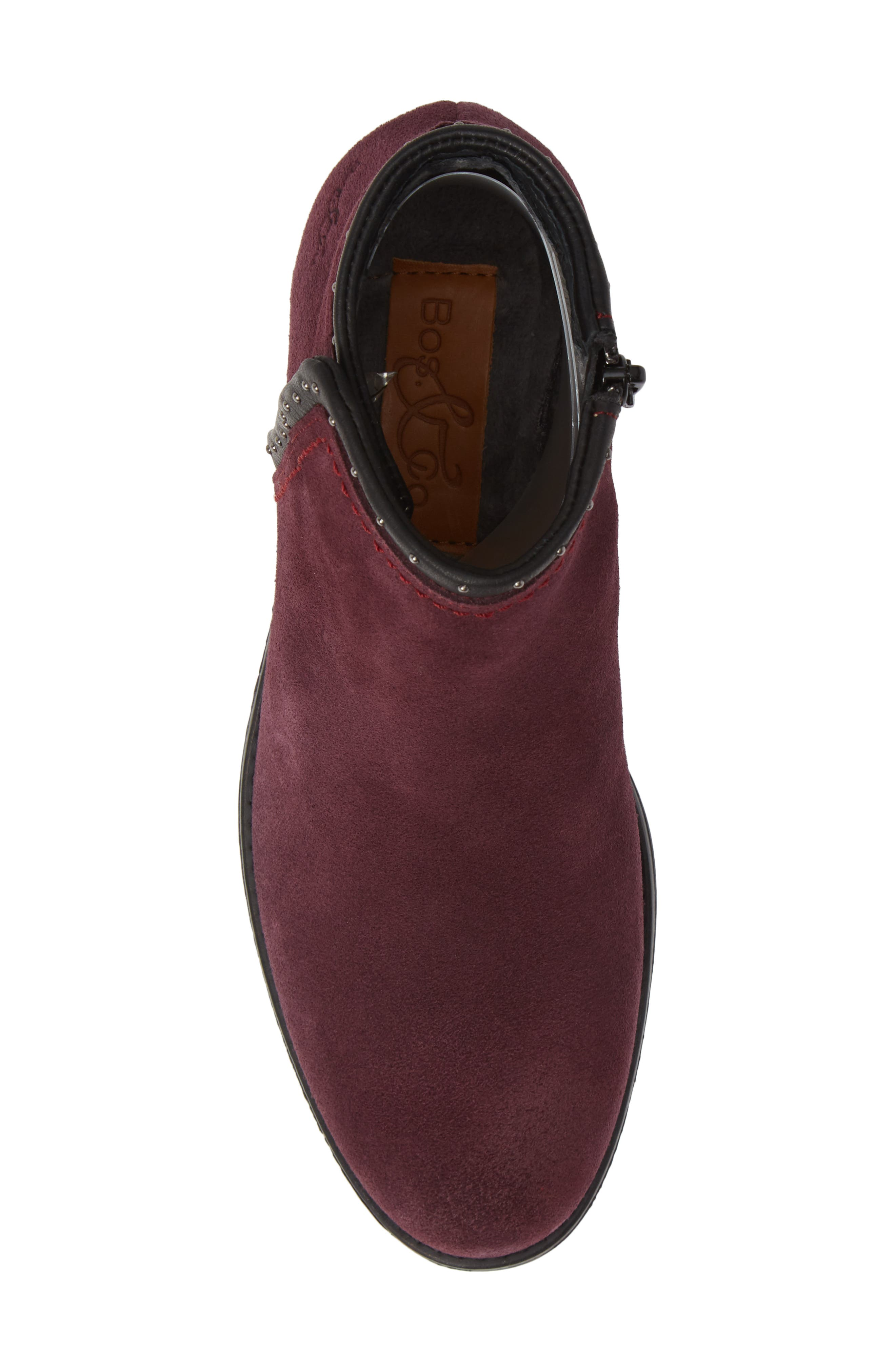 BOS. & CO., Ribos Bootie, Alternate thumbnail 5, color, PRUNE SUEDE