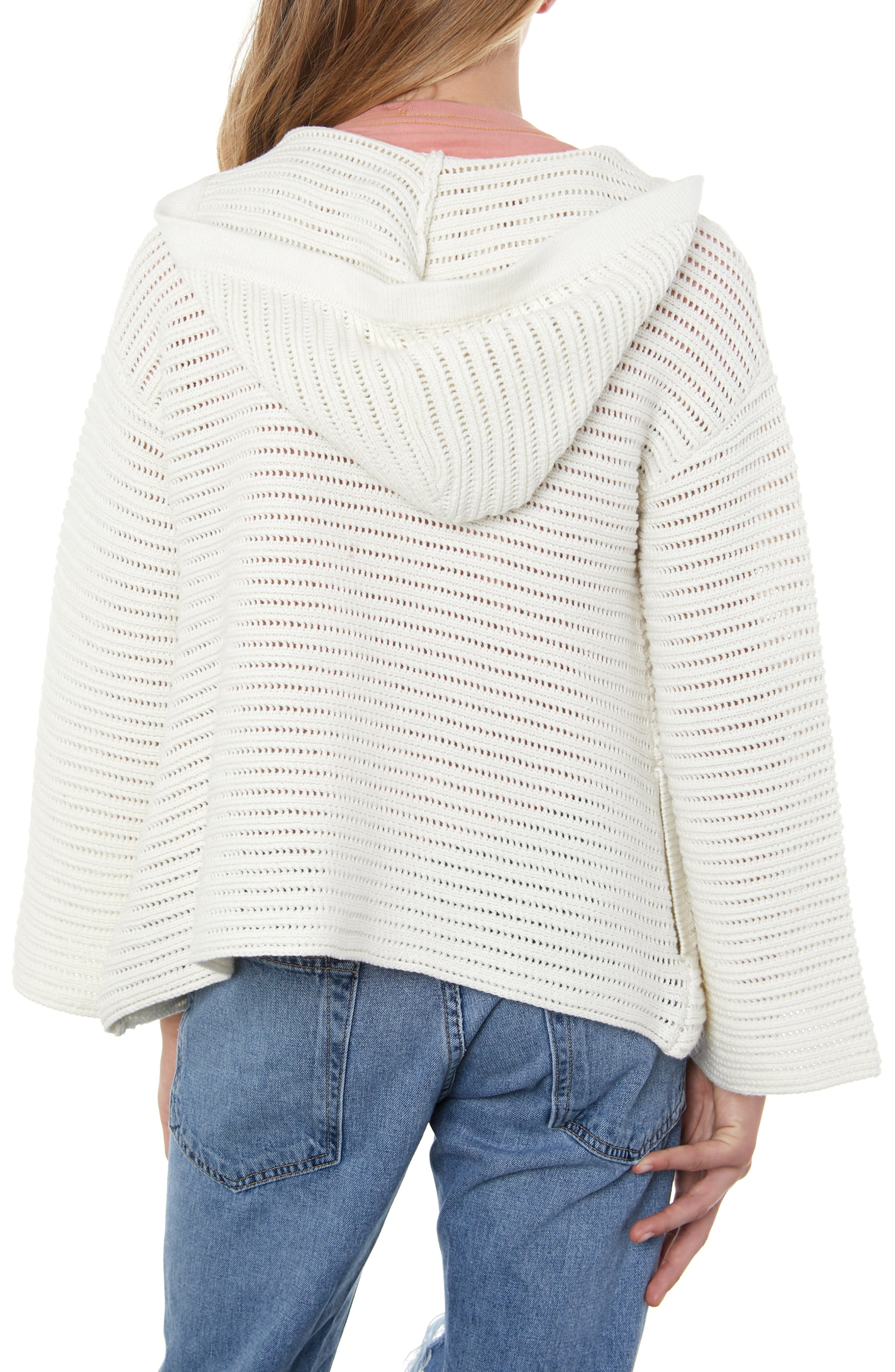O'NEILL, Bayline Hooded Cardigan Sweater, Alternate thumbnail 3, color, NAKED
