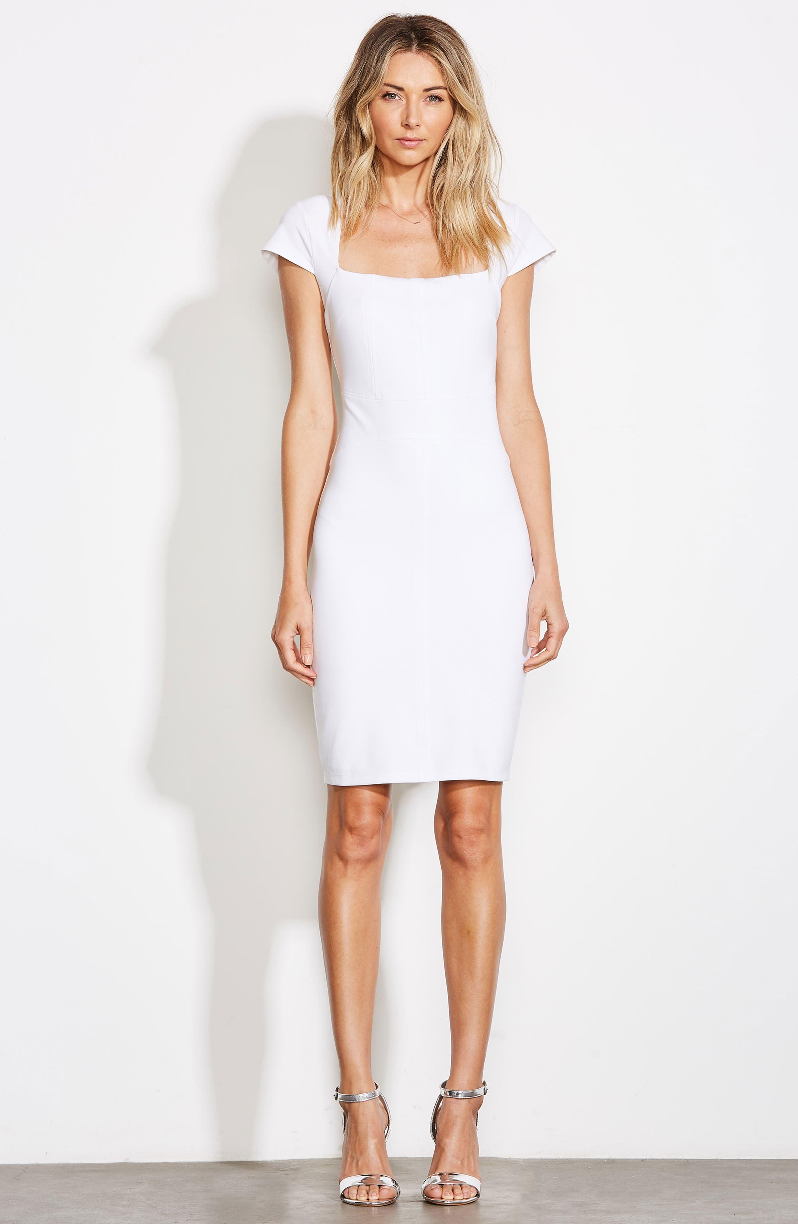 ALI & JAY, Olive Street Body-Con Dress, Alternate thumbnail 8, color, WHITE