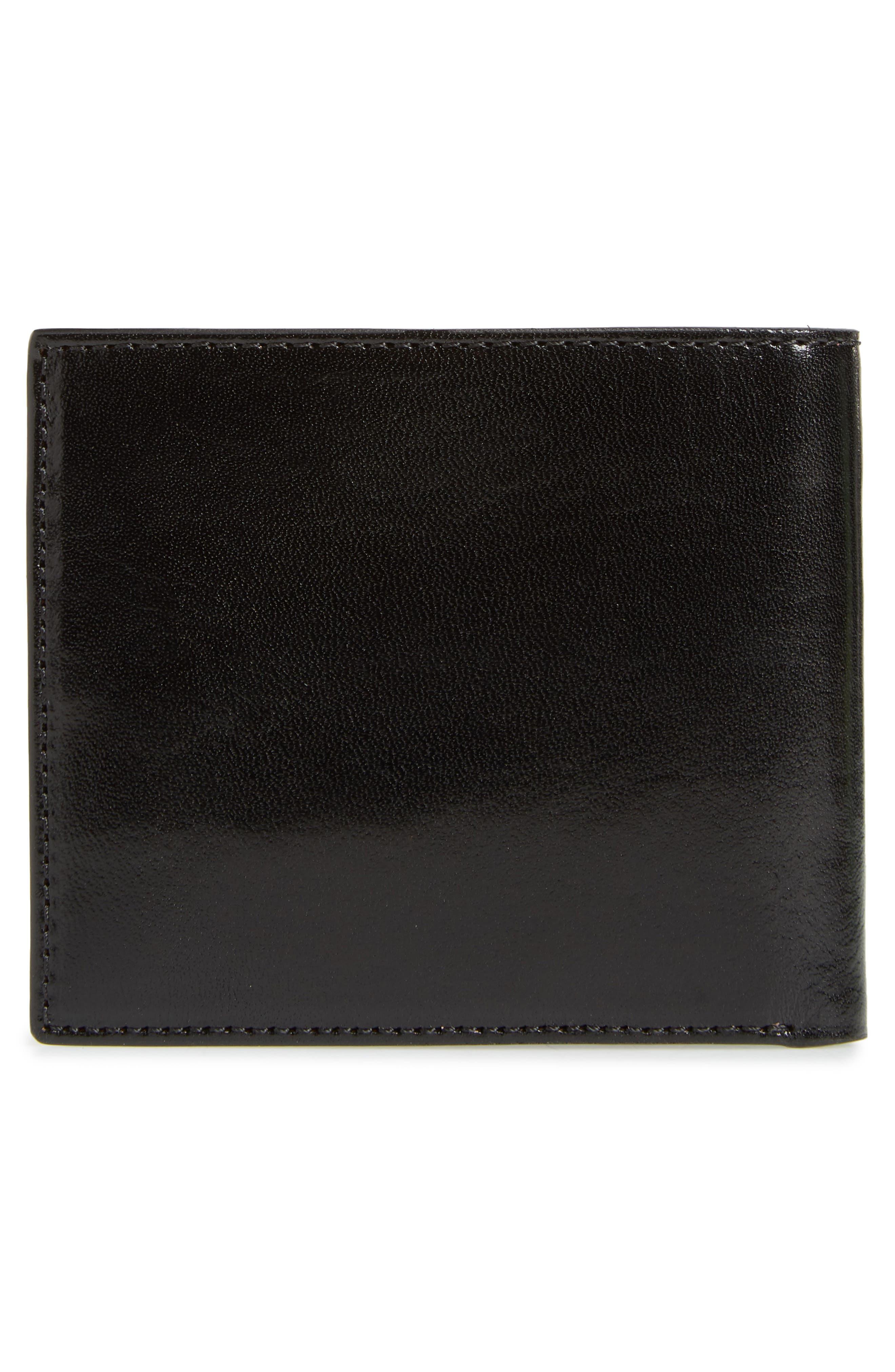 TED BAKER LONDON, Contrast Leather Wallet, Alternate thumbnail 3, color, BLACK
