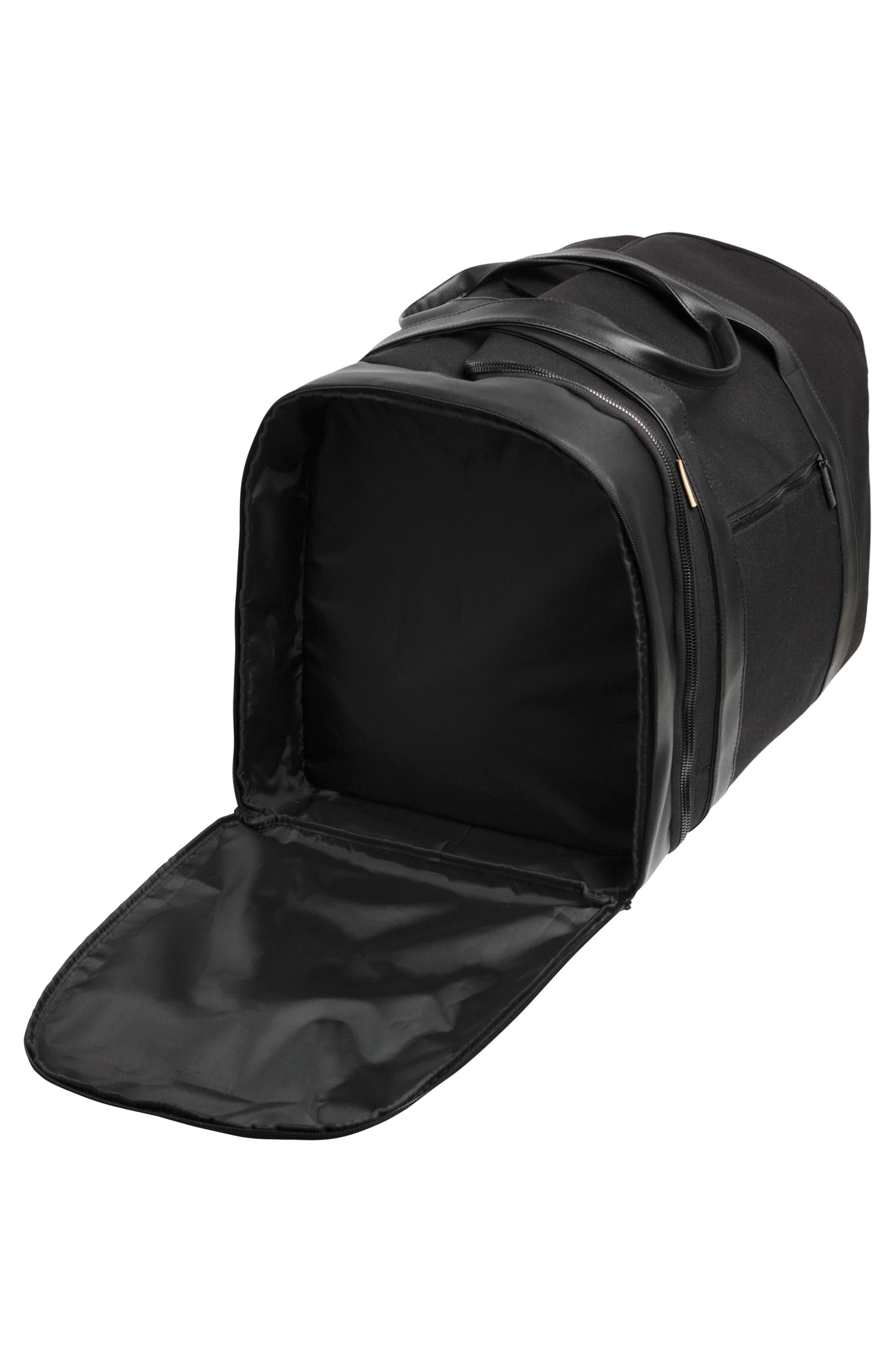 BÉIS, Travel Multi Function Duffle Bag, Alternate thumbnail 5, color, BLACK
