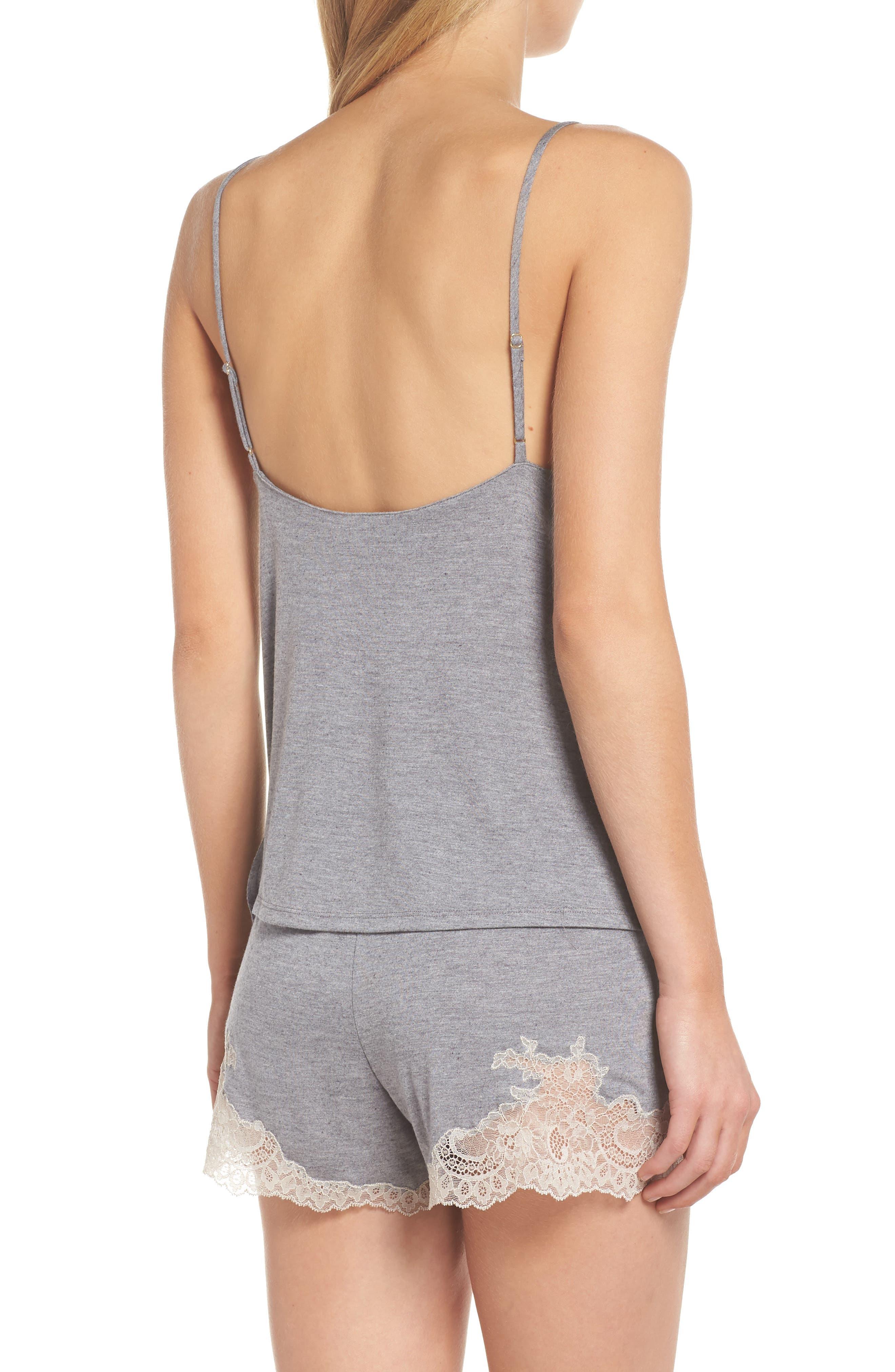 NATORI, Luxe Shangri-La Short Pajamas, Alternate thumbnail 2, color, GREY
