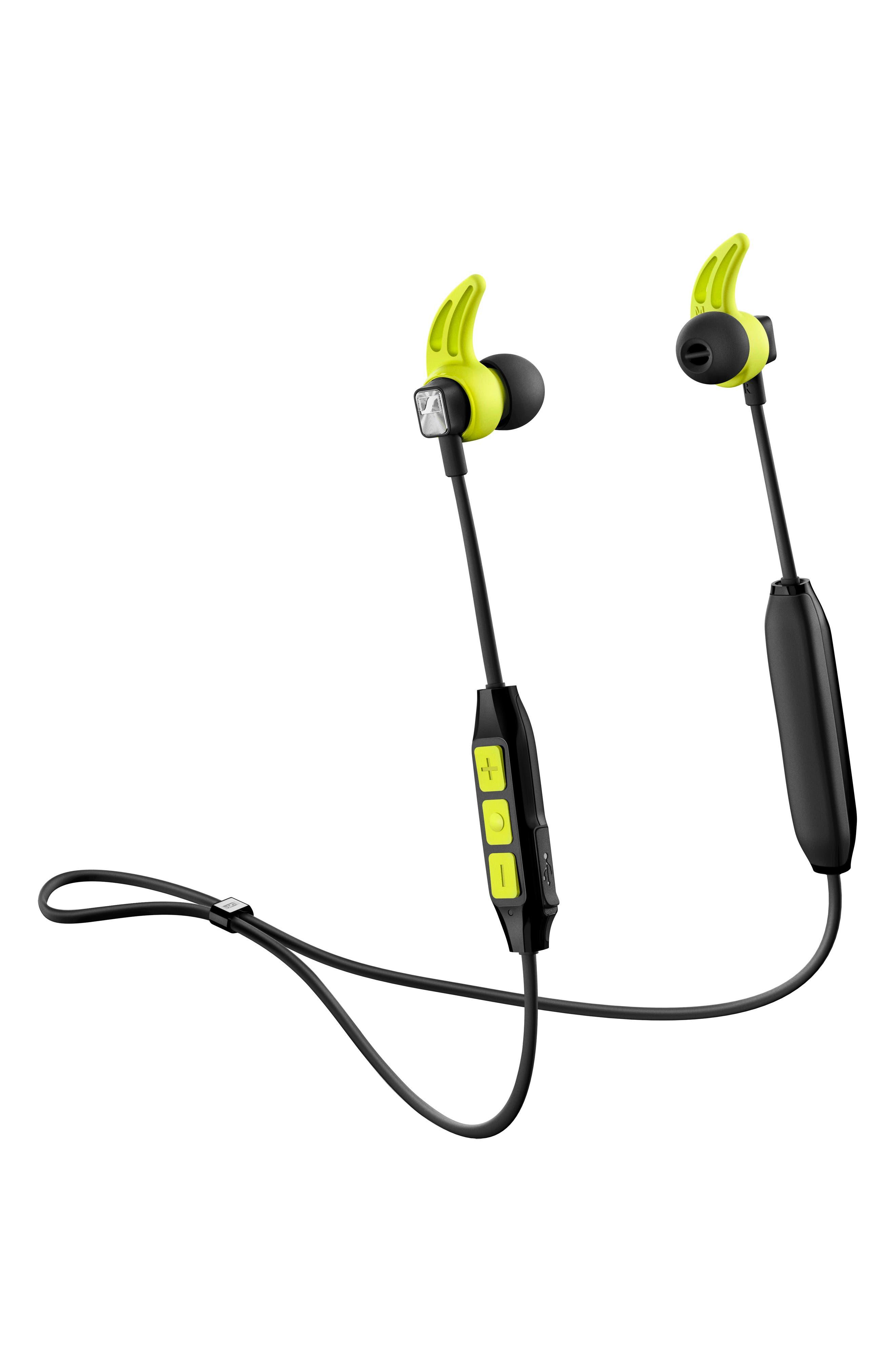 SENNHEISER, CX Sport In-Ear Bluetooth<sup>®</sup> Headphones, Alternate thumbnail 4, color, BLACK/ YELLOW