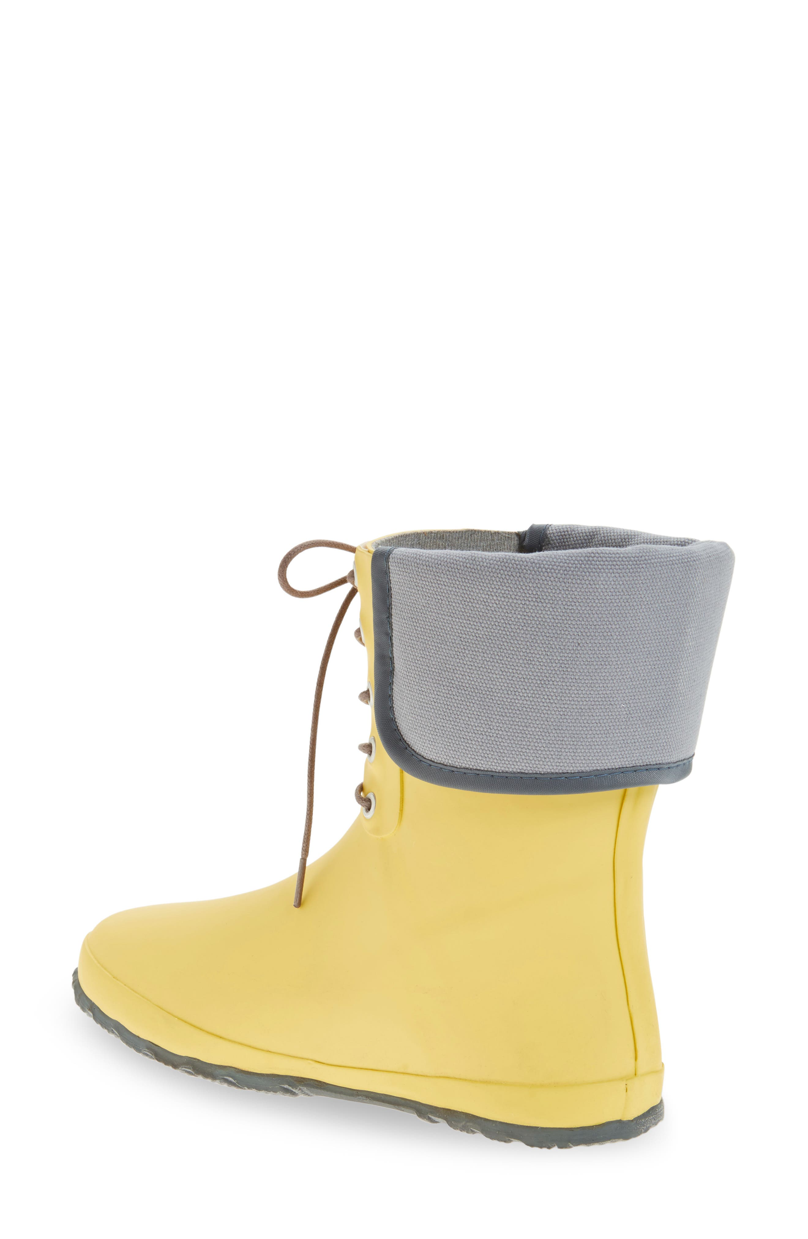 DÄV, Lace-Up Mid Weatherproof Boot, Alternate thumbnail 2, color, YELLOW