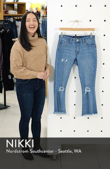 Ripped Crop Flare Jeans, sales video thumbnail
