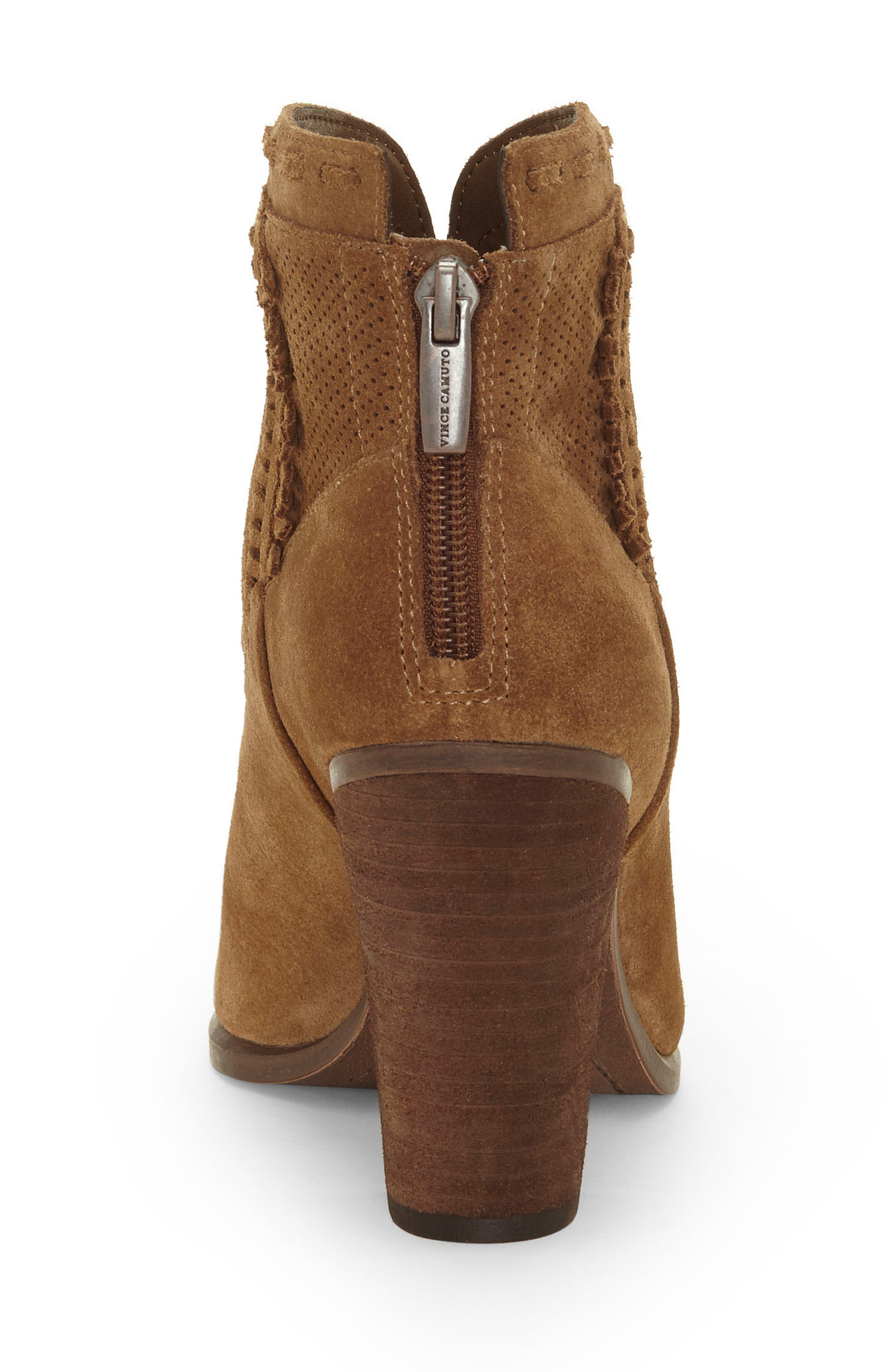 VINCE CAMUTO, Fretzia Perforated Boot, Alternate thumbnail 6, color, TREE HOUSE NUBUCK