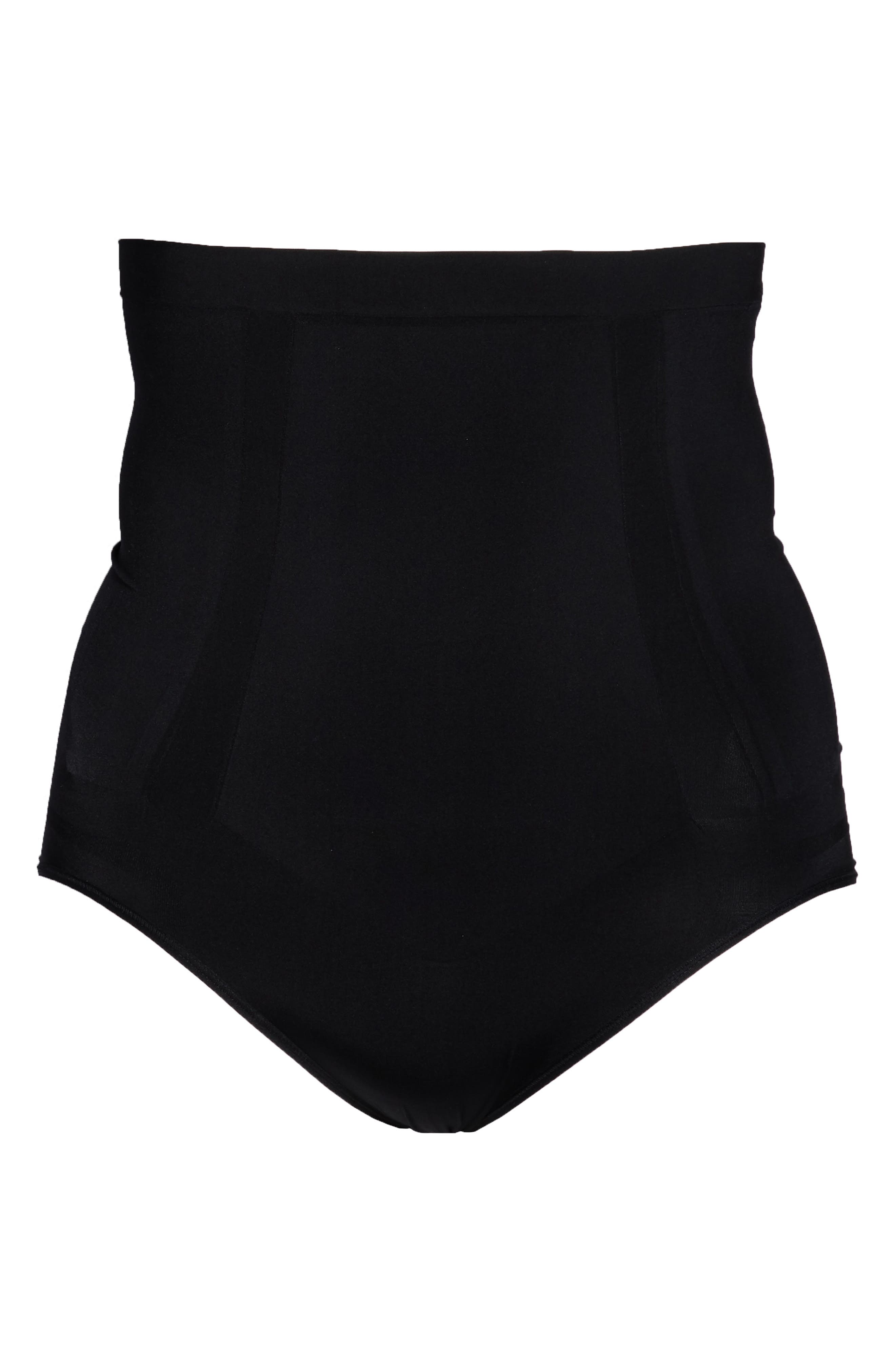 SPANX<SUP>®</SUP>, OnCore High Waist Briefs, Alternate thumbnail 5, color, VERY BLACK