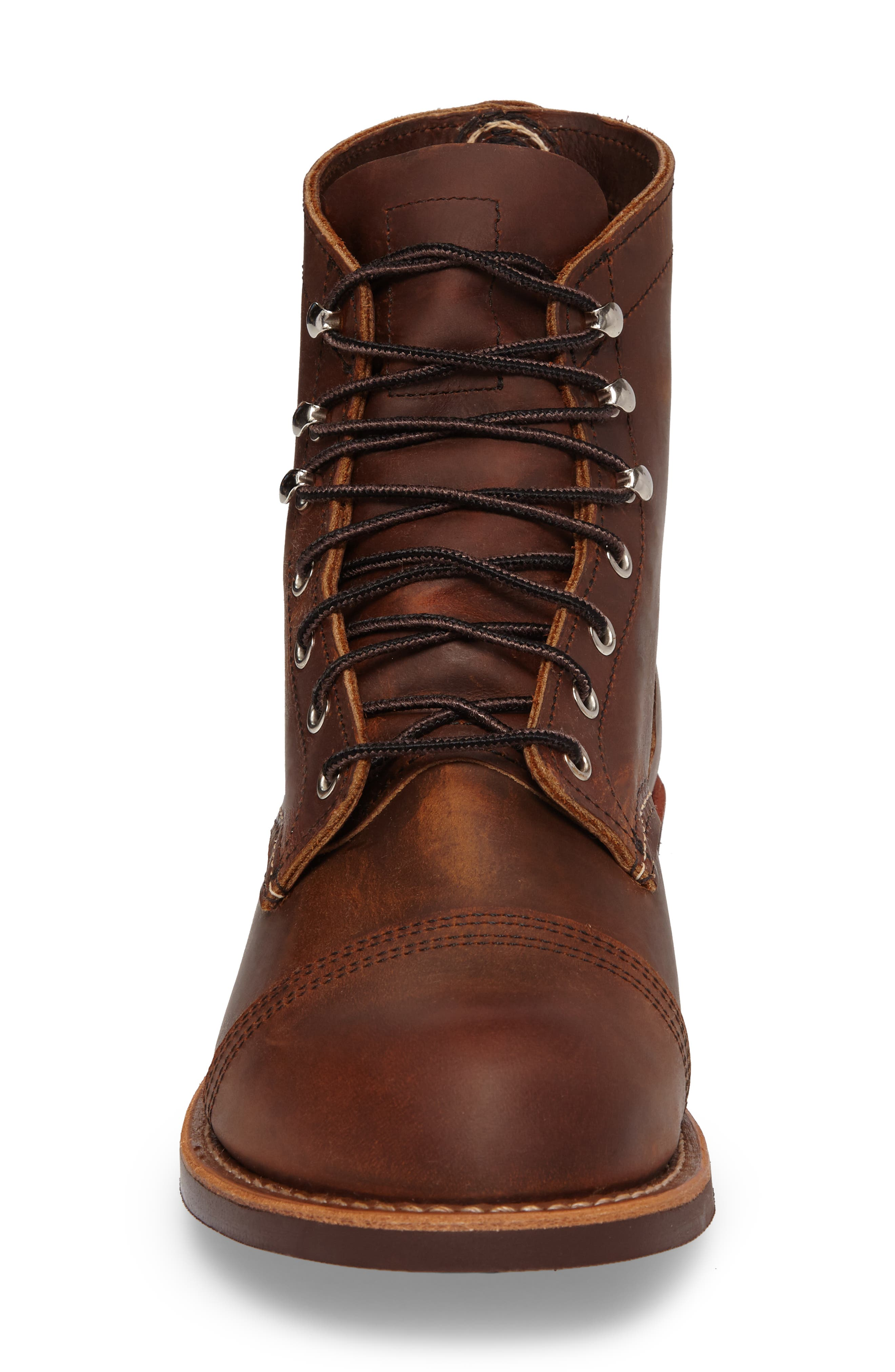 RED WING, Iron Ranger Cap Toe Boot, Alternate thumbnail 4, color, COPPER LEATHER