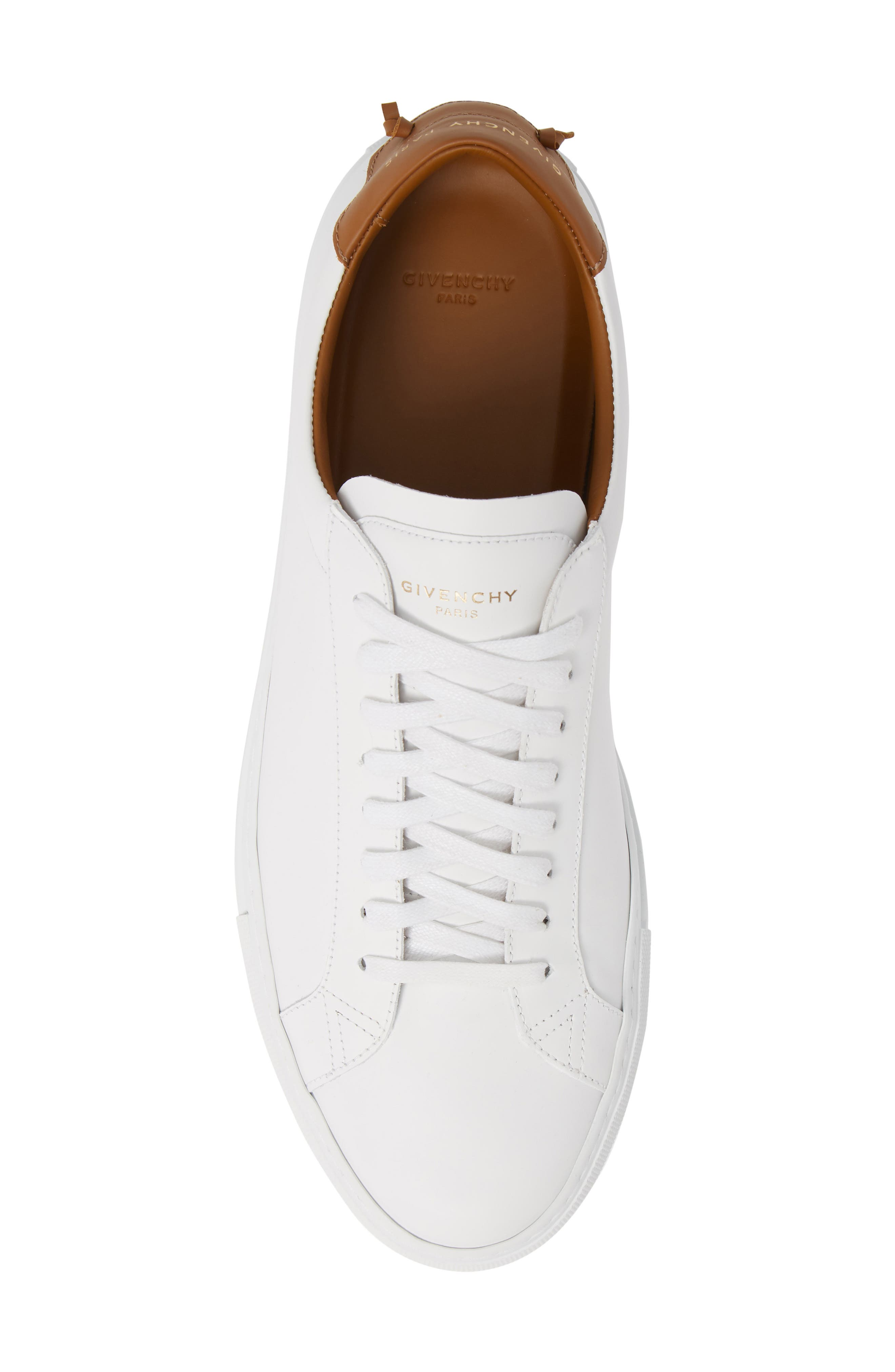 GIVENCHY, Urban Knots Low Sneaker, Alternate thumbnail 5, color, WHITE/ BEIGE