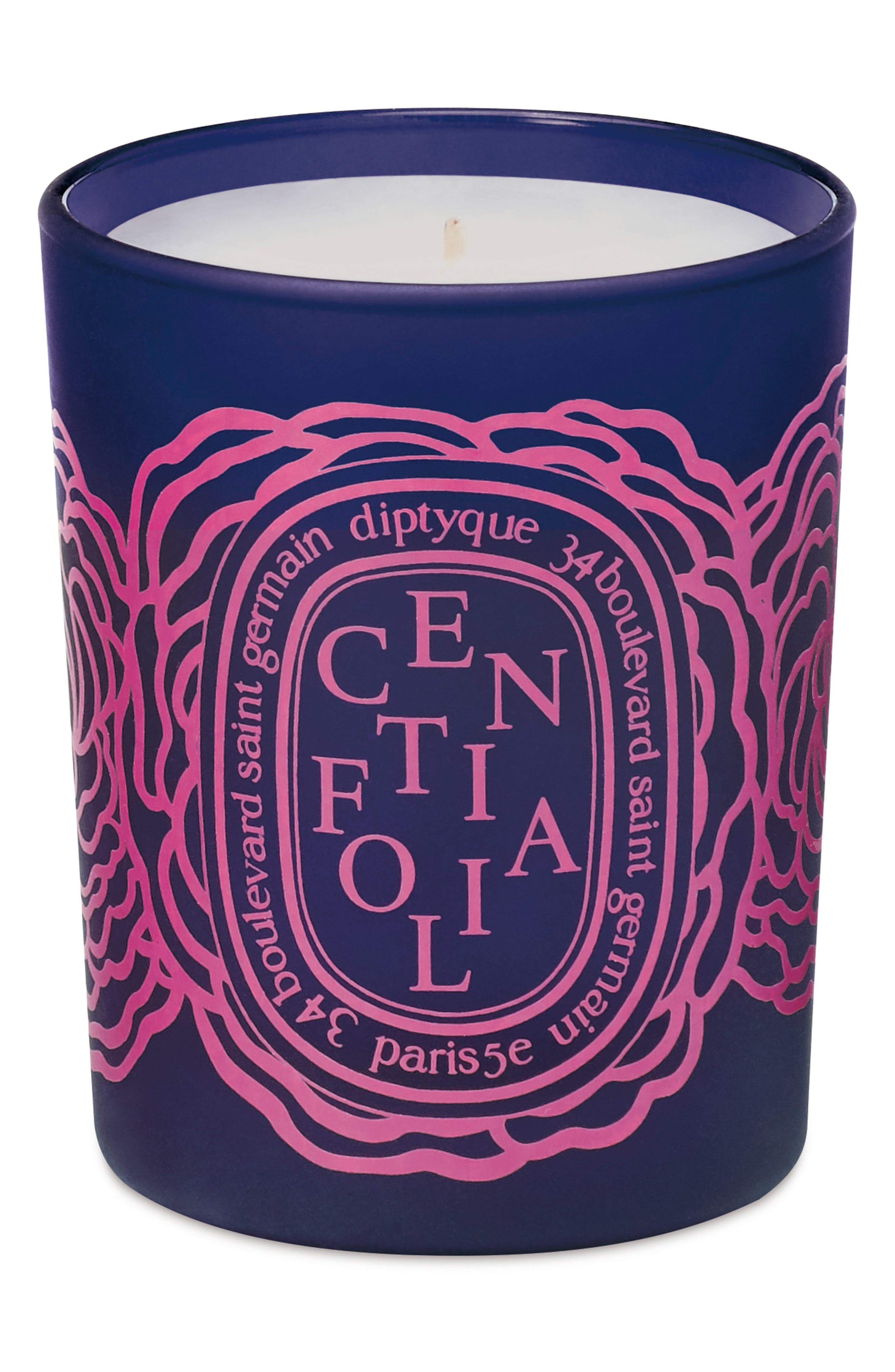 DIPTYQUE, Roses Centifolia Scented Votive Candle, Main thumbnail 1, color, 000