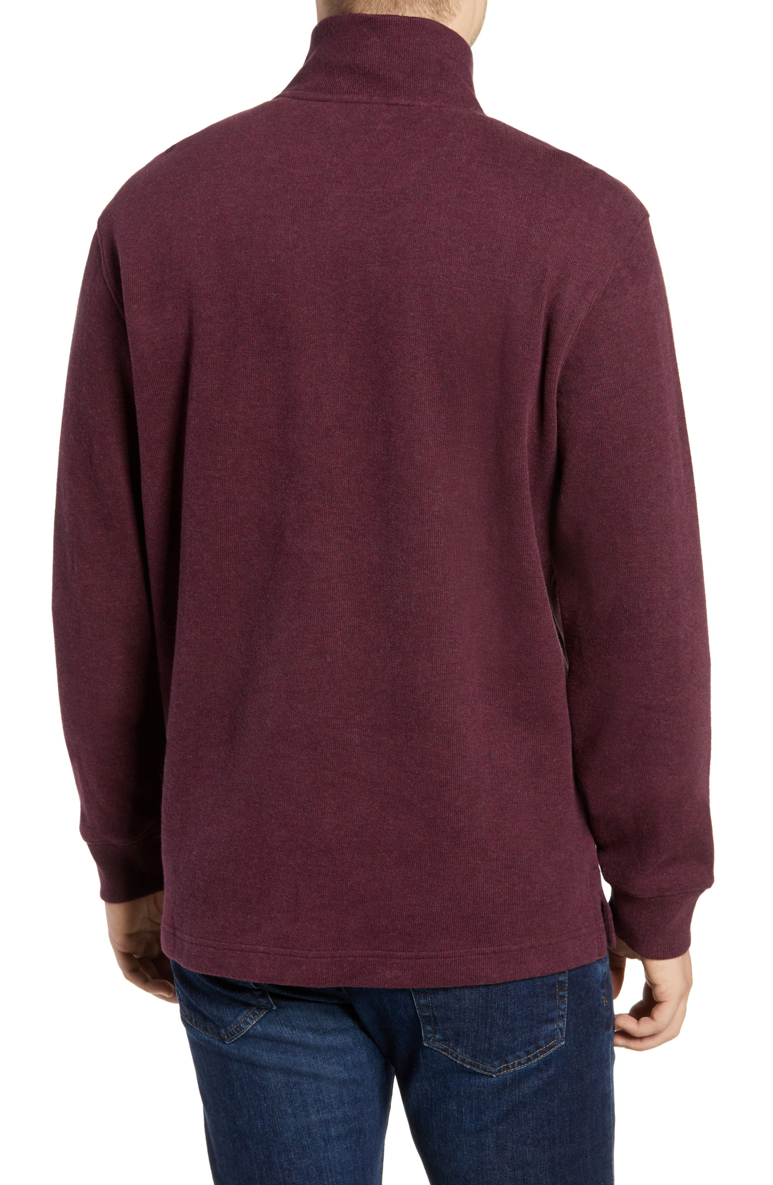 RODD & GUNN, Alton Ave Regular Fit Pullover Sweatshirt, Alternate thumbnail 2, color, BURGUNDY