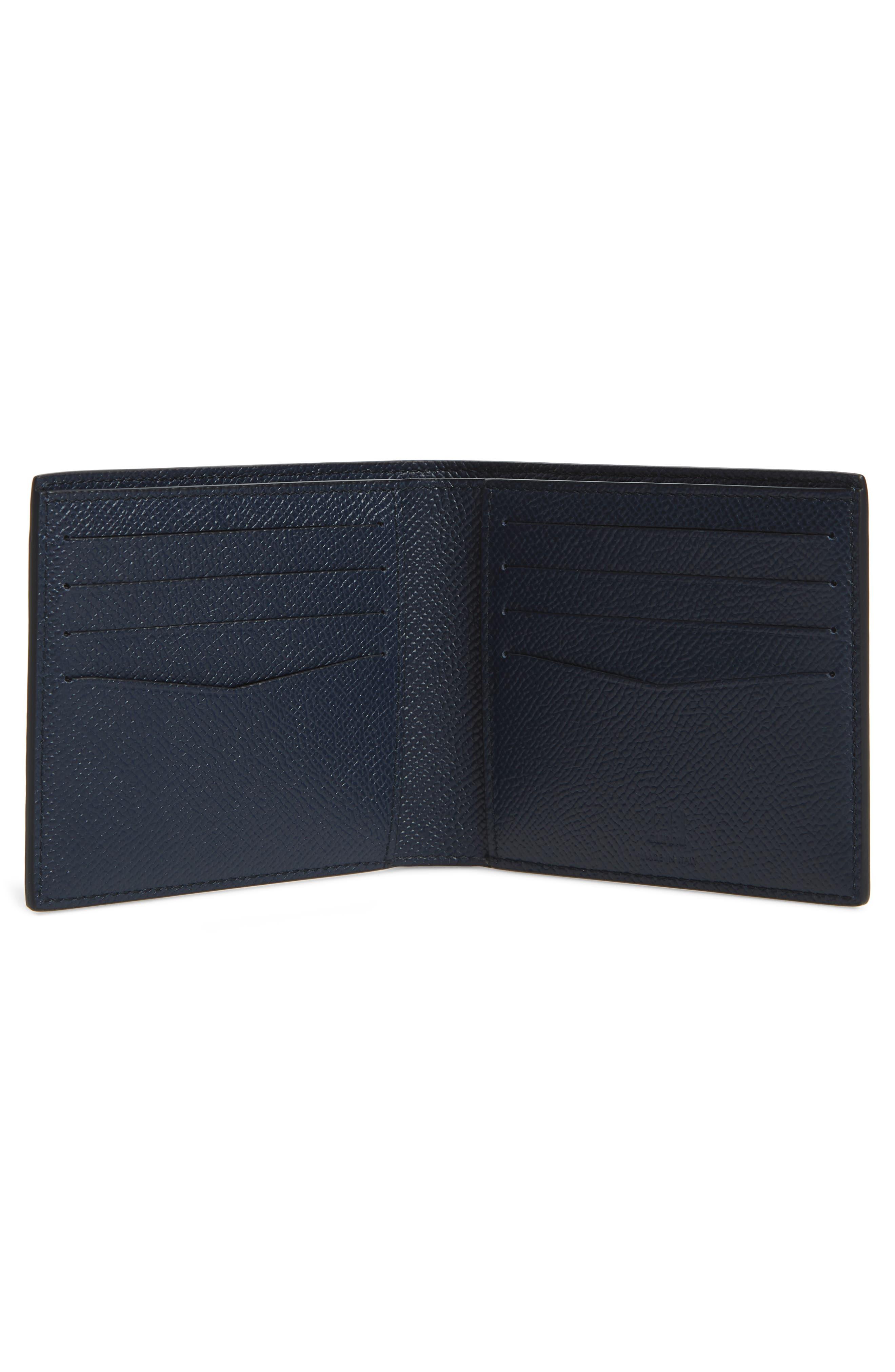 DUNHILL, Cadogan Leather Wallet, Alternate thumbnail 2, color, STONE BLUE