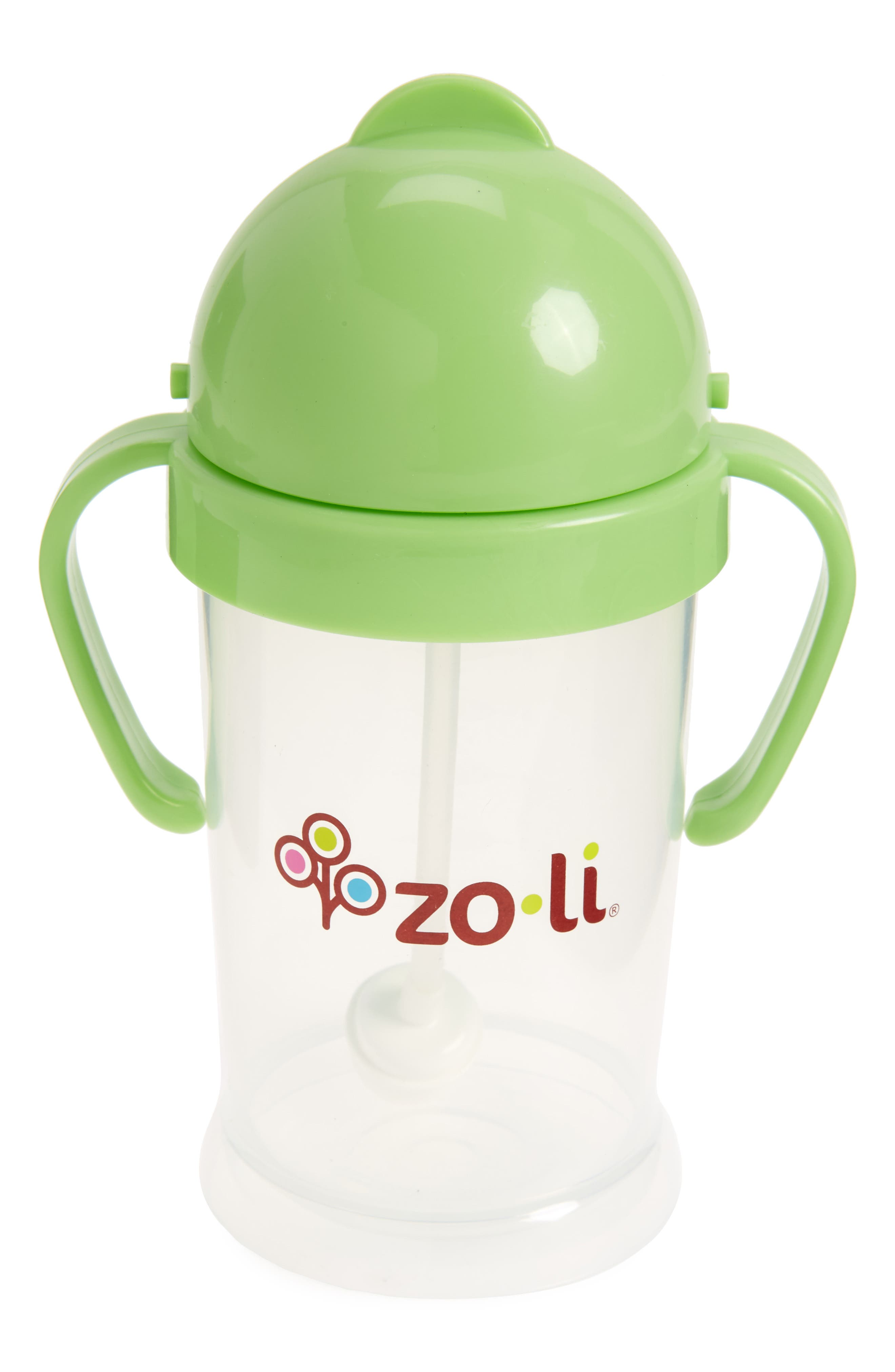 ZOLI, 'BOT XL' Sippy Cup, Main thumbnail 1, color, GREEN
