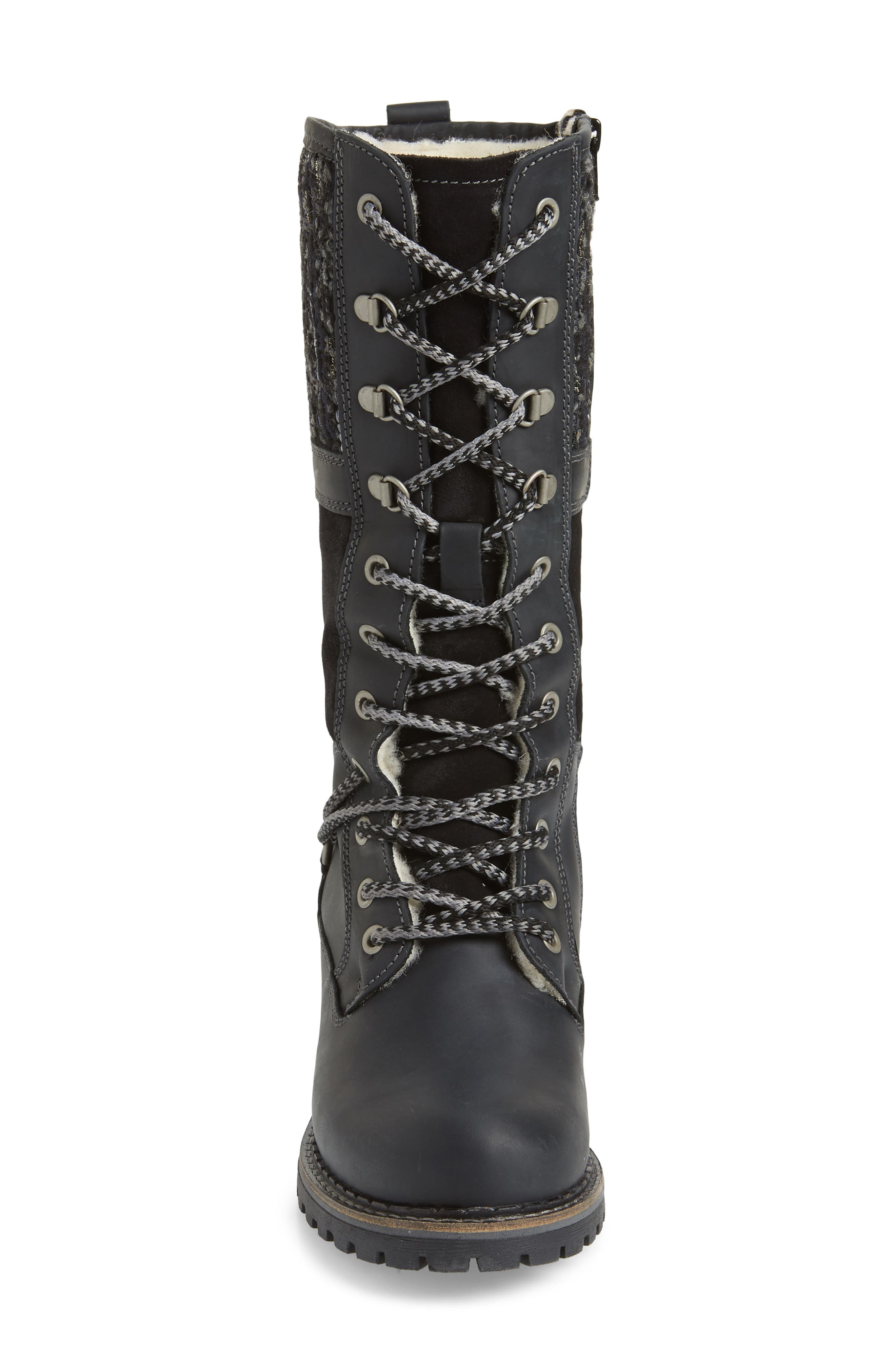BOS. & CO., Holland Waterproof Boot, Alternate thumbnail 4, color, BLACK OIL SUEDE