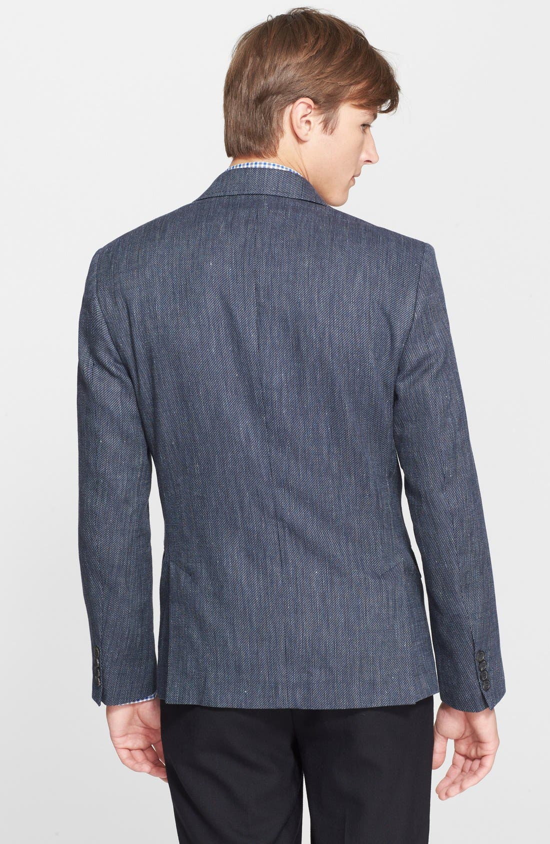 BILLY REID, 'Lexington' Trim Fit Cotton, Linen & Silk Sport Coat, Alternate thumbnail 3, color, 462