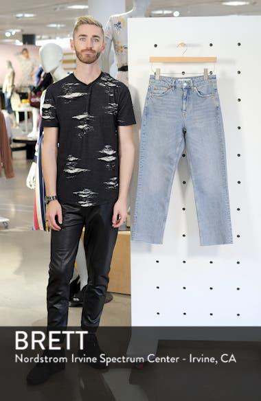Raw Hem Straight Leg Jeans, sales video thumbnail