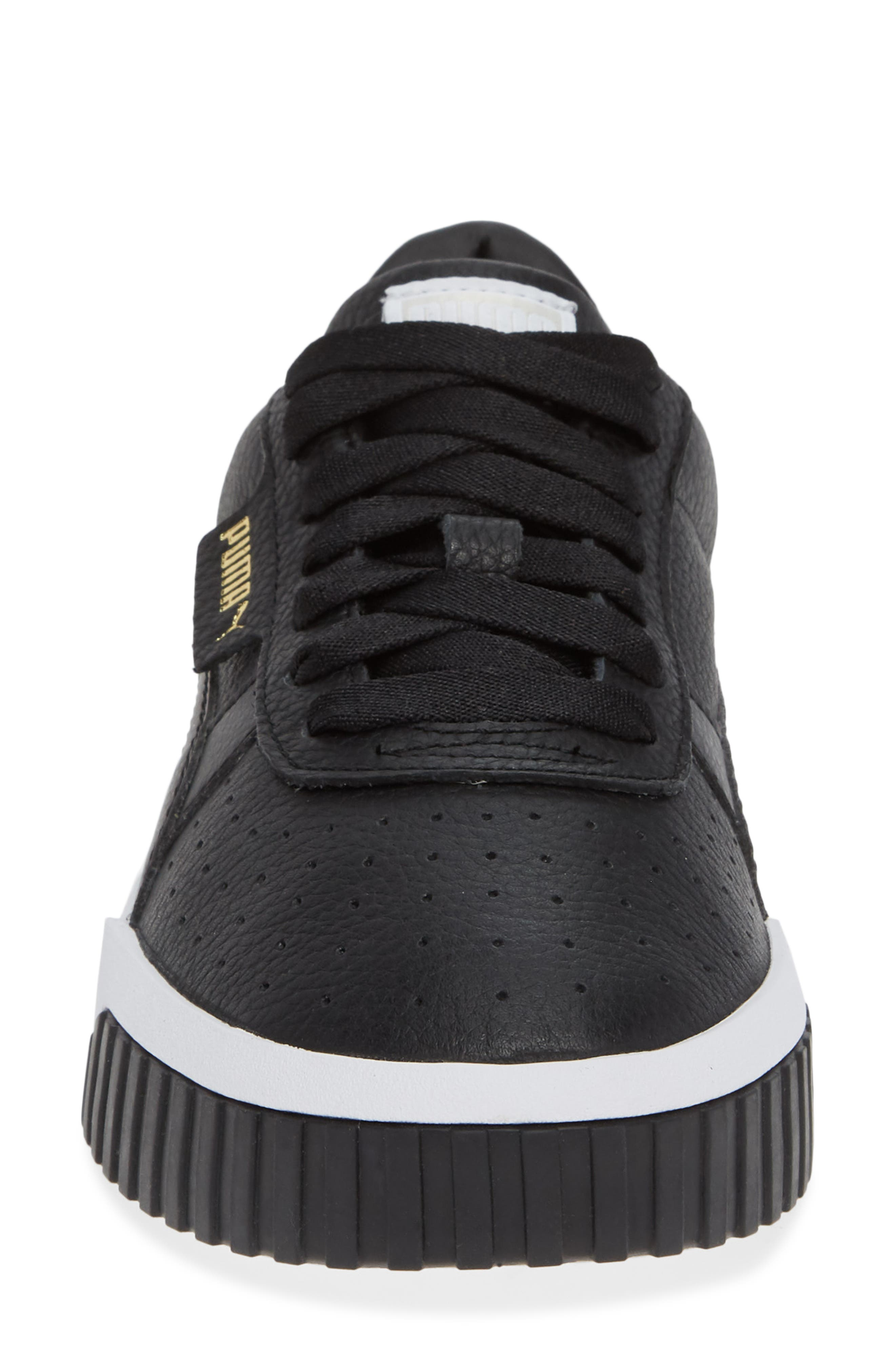 PUMA, Cali Sneaker, Alternate thumbnail 4, color, PUMA BLACK/ PUMA WHITE