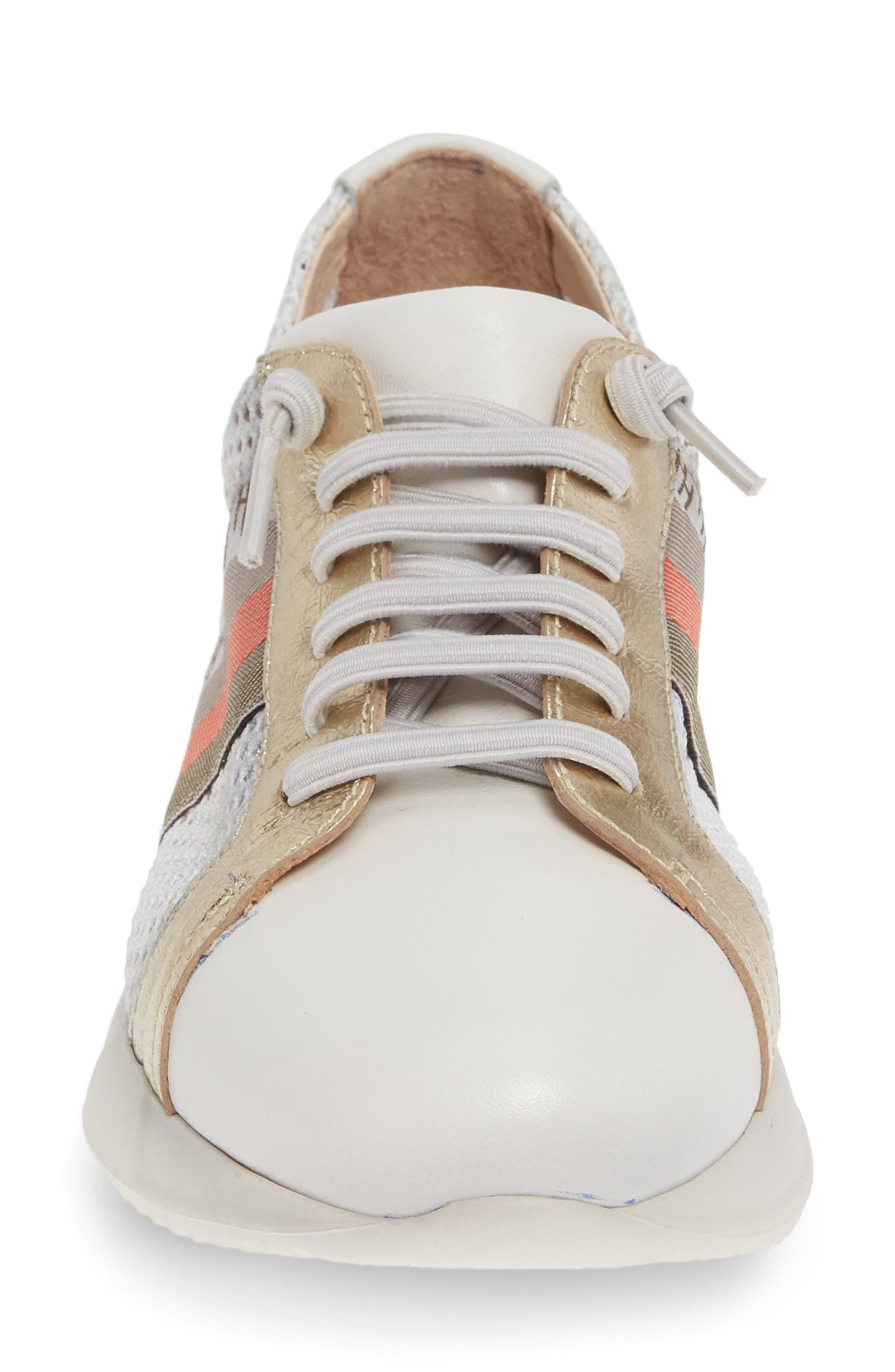 HISPANITAS, Stephanie Platform Sneaker, Alternate thumbnail 4, color, WHITE LEATHER