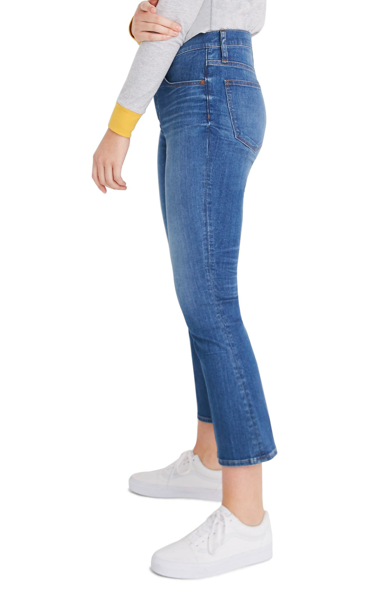 MADEWELL, Eco Edition Cali Demi Boot Jeans, Alternate thumbnail 9, color, TIERNEY WASH