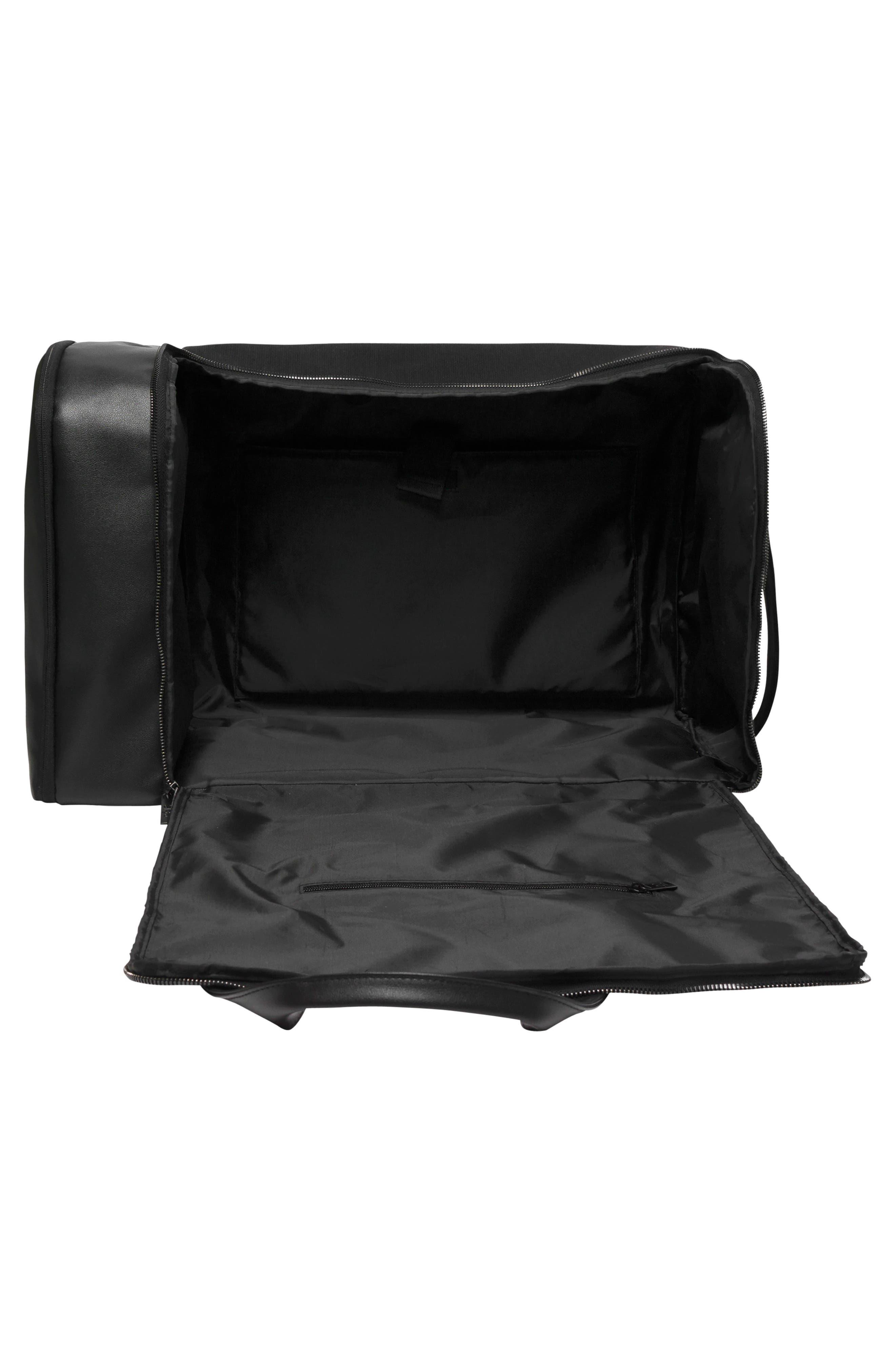 BÉIS, Travel Multi Function Duffle Bag, Alternate thumbnail 7, color, BLACK