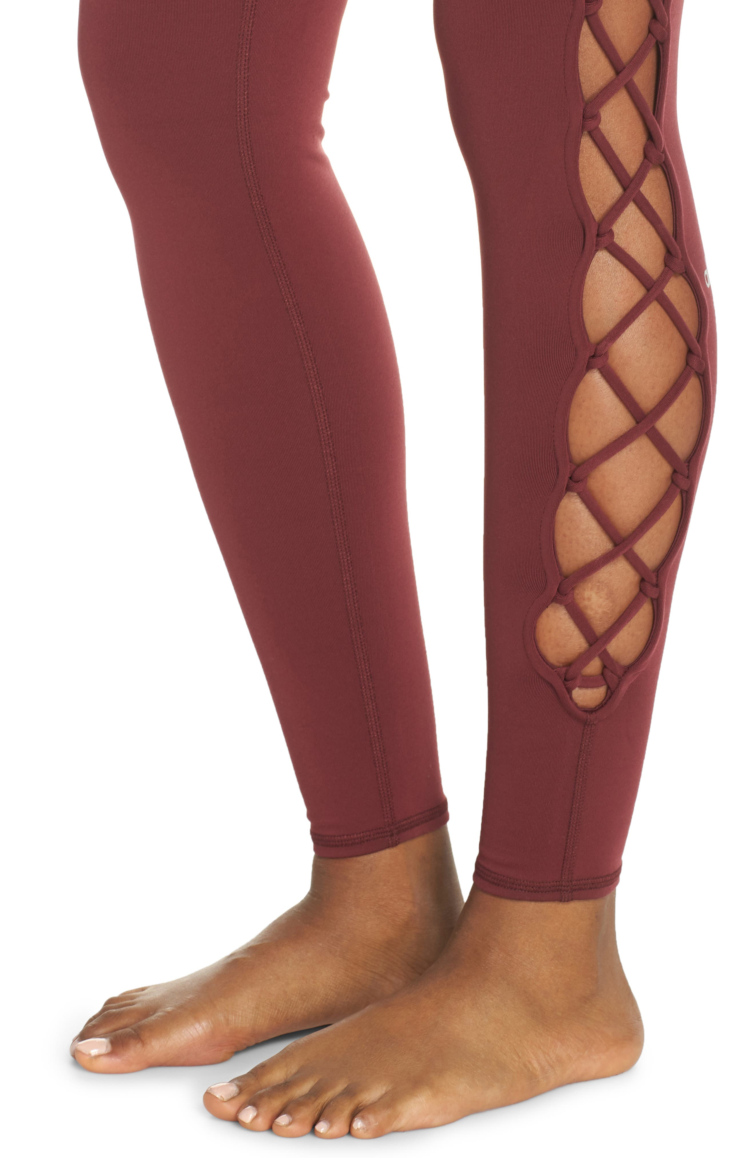 ALO, Interlace Leggings, Alternate thumbnail 5, color, 936