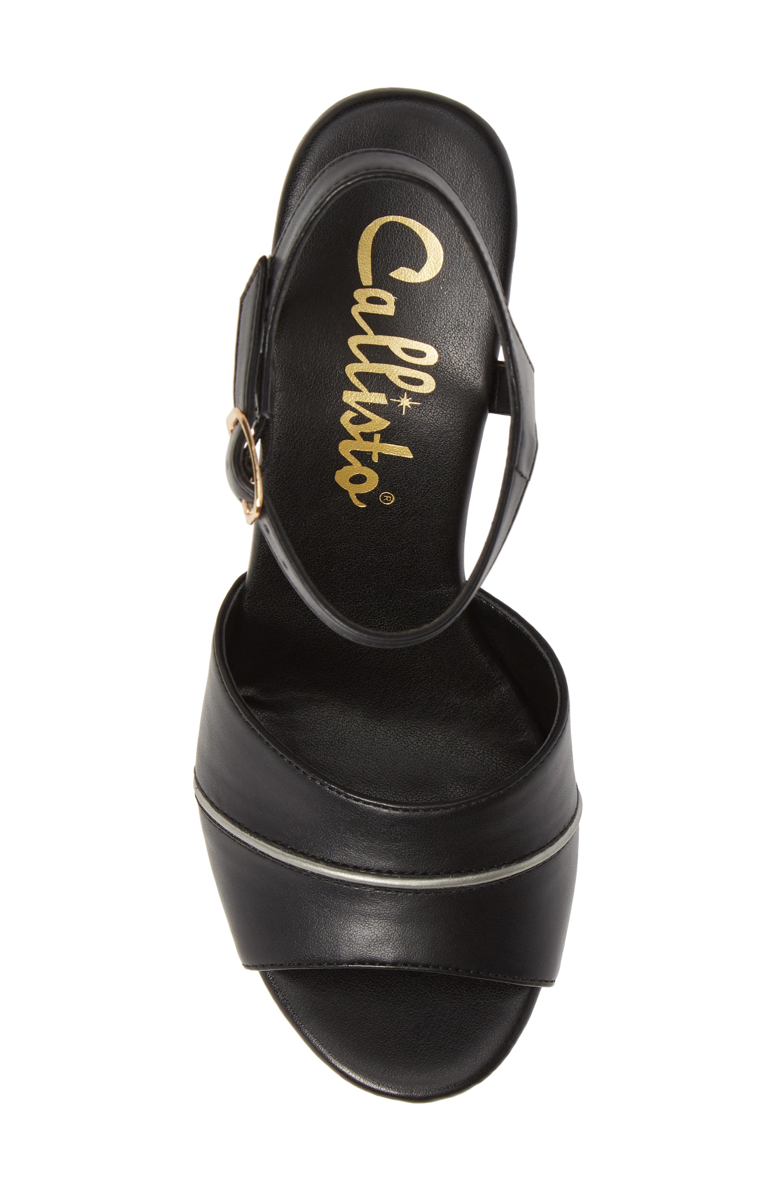 CALLISTO, Masalla Platform Wedge Sandal, Alternate thumbnail 5, color, BLACK FAUX LEATHER