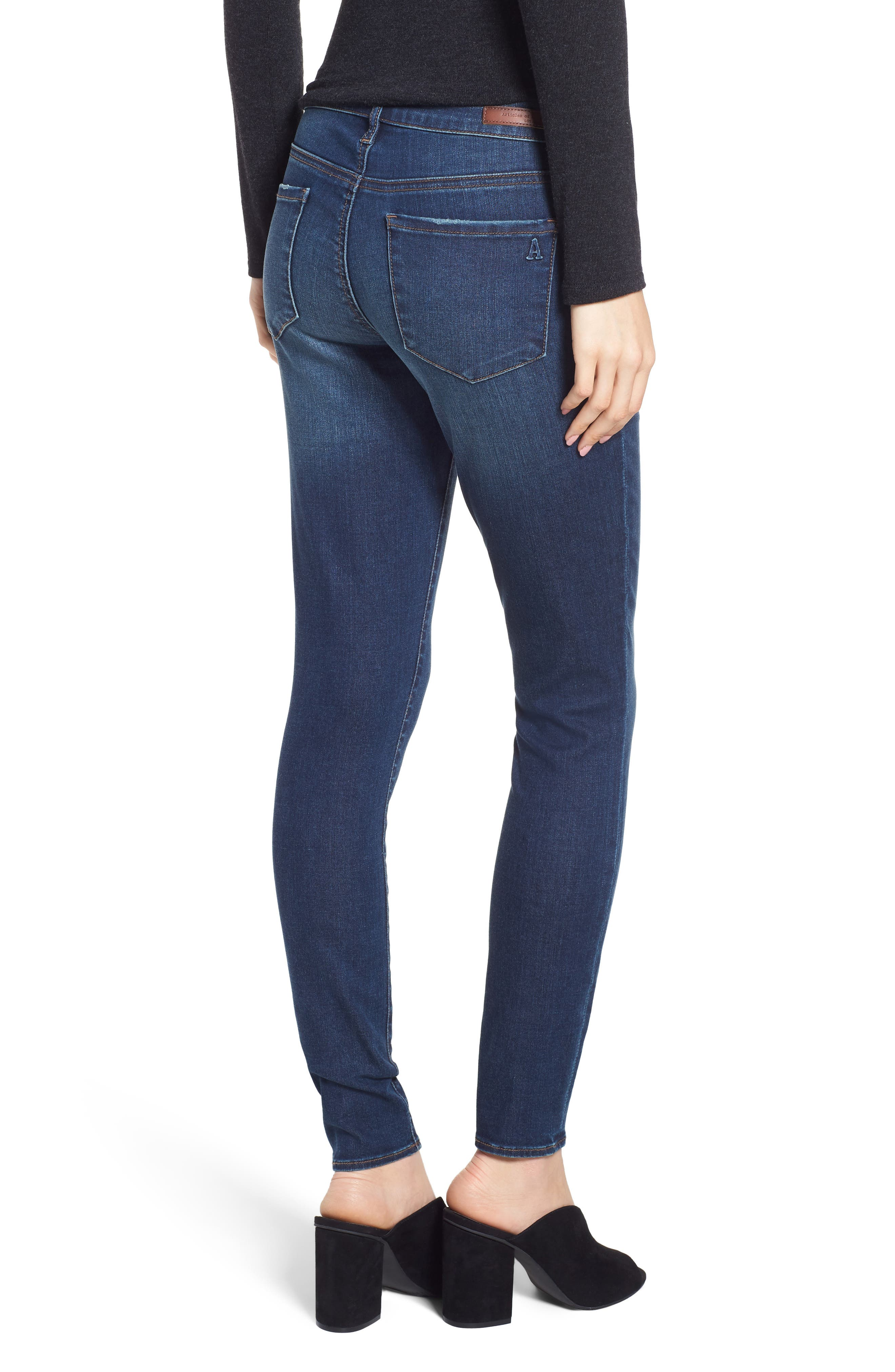 ARTICLES OF SOCIETY, Sarah Skinny Jeans, Alternate thumbnail 2, color, 400