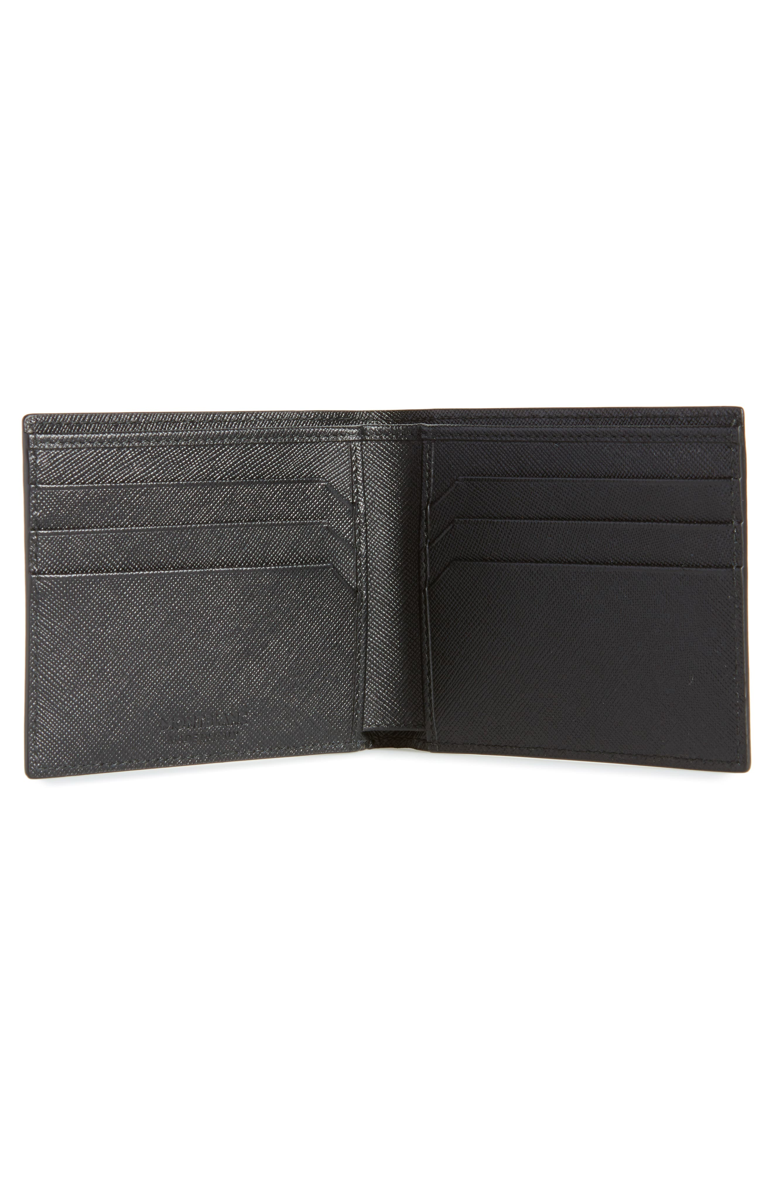MONTBLANC, Sartorial Leather Bifold Wallet, Alternate thumbnail 2, color, BLACK