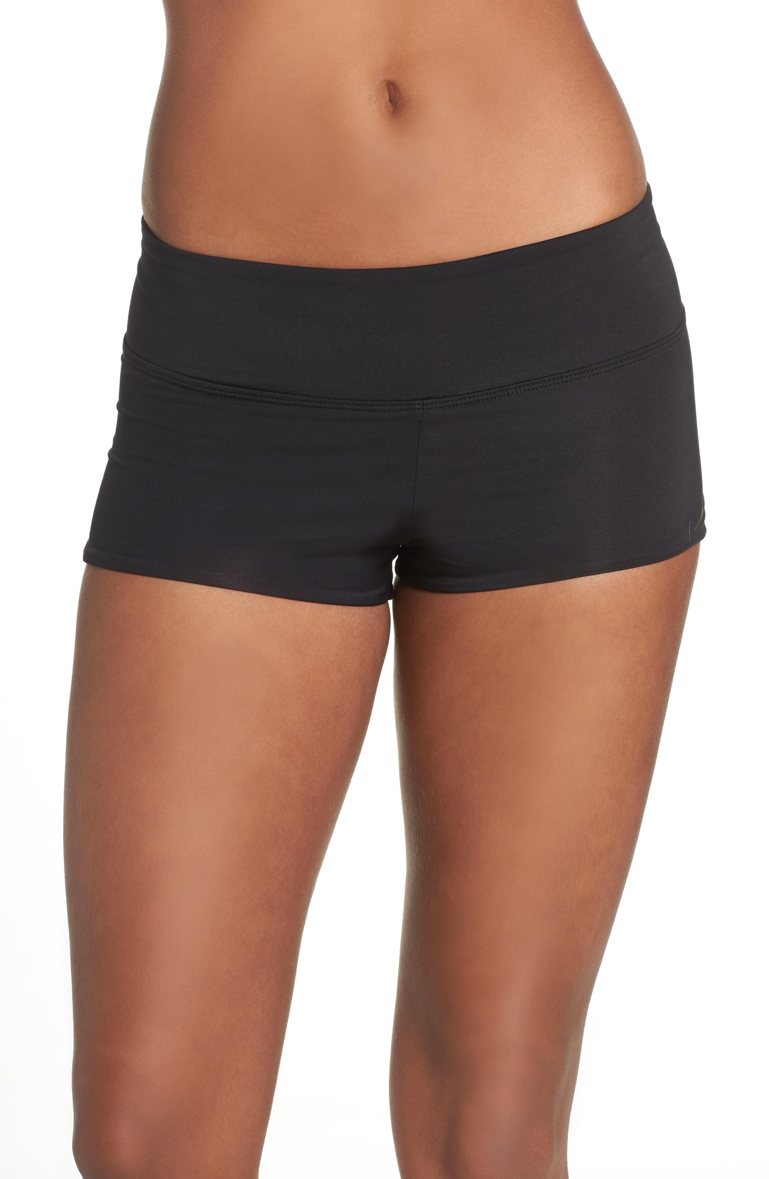 NIKE, Kick Swim Shorts, Main thumbnail 1, color, BLACK