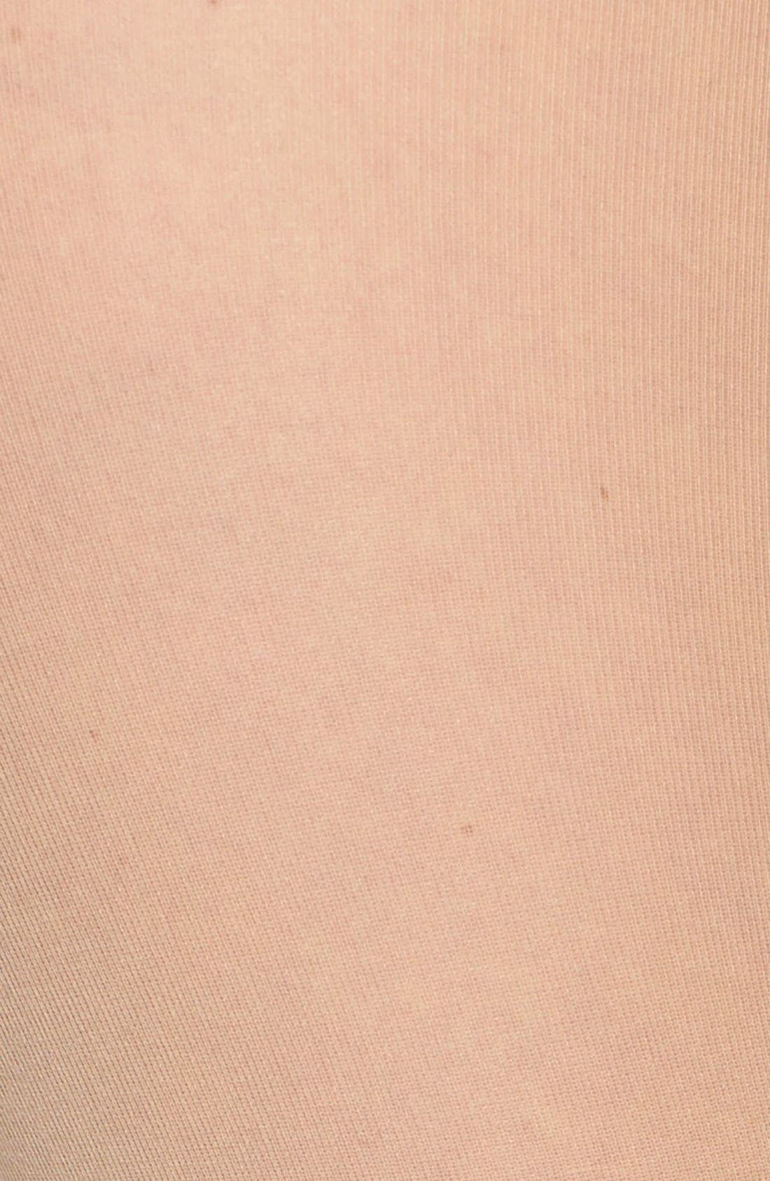 DKNY, Light Opaque Control Top Tights, Alternate thumbnail 2, color, CARAMEL