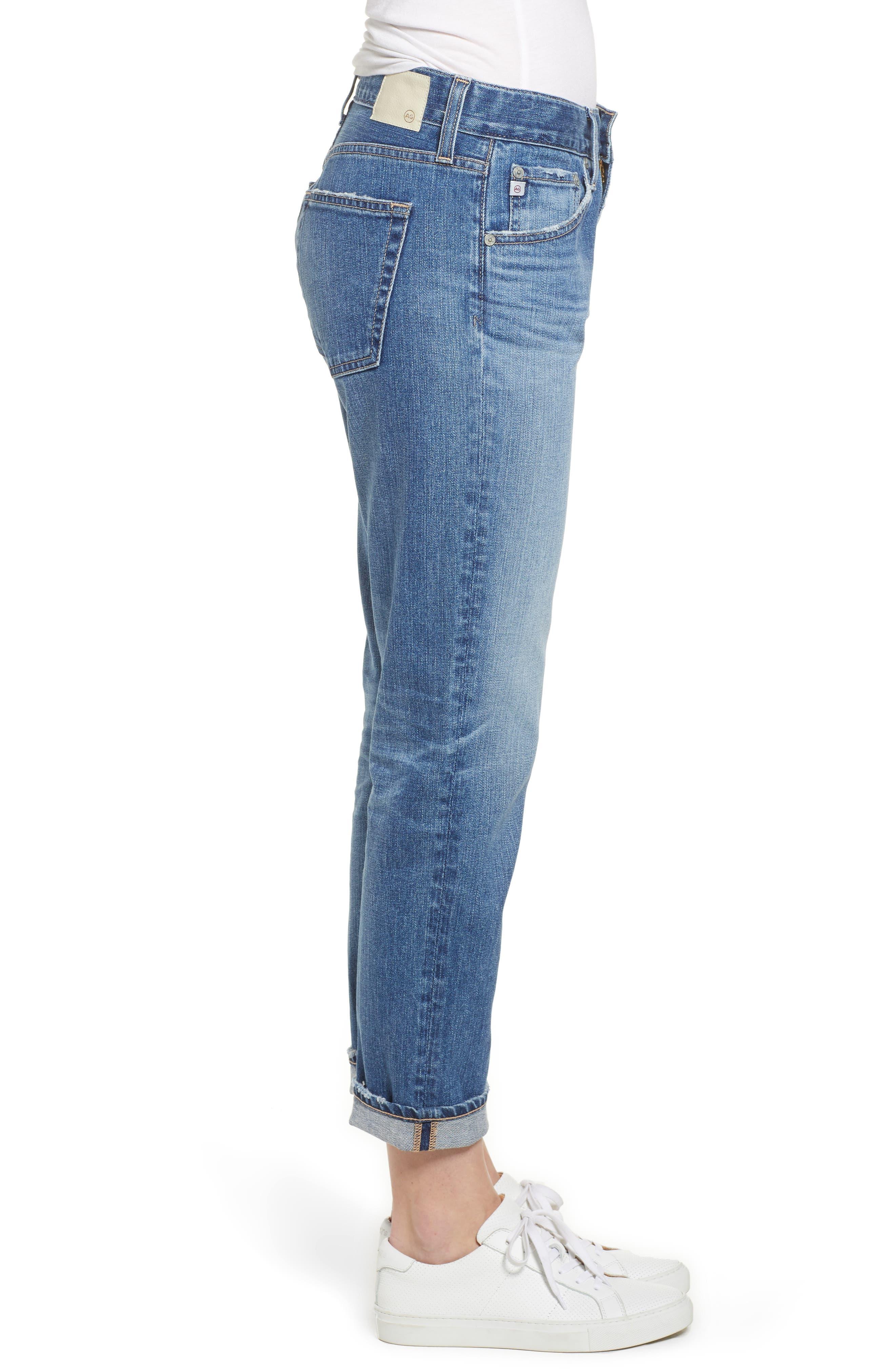AG, Ex-Boyfriend Crop Slim Jeans, Alternate thumbnail 4, color, 417