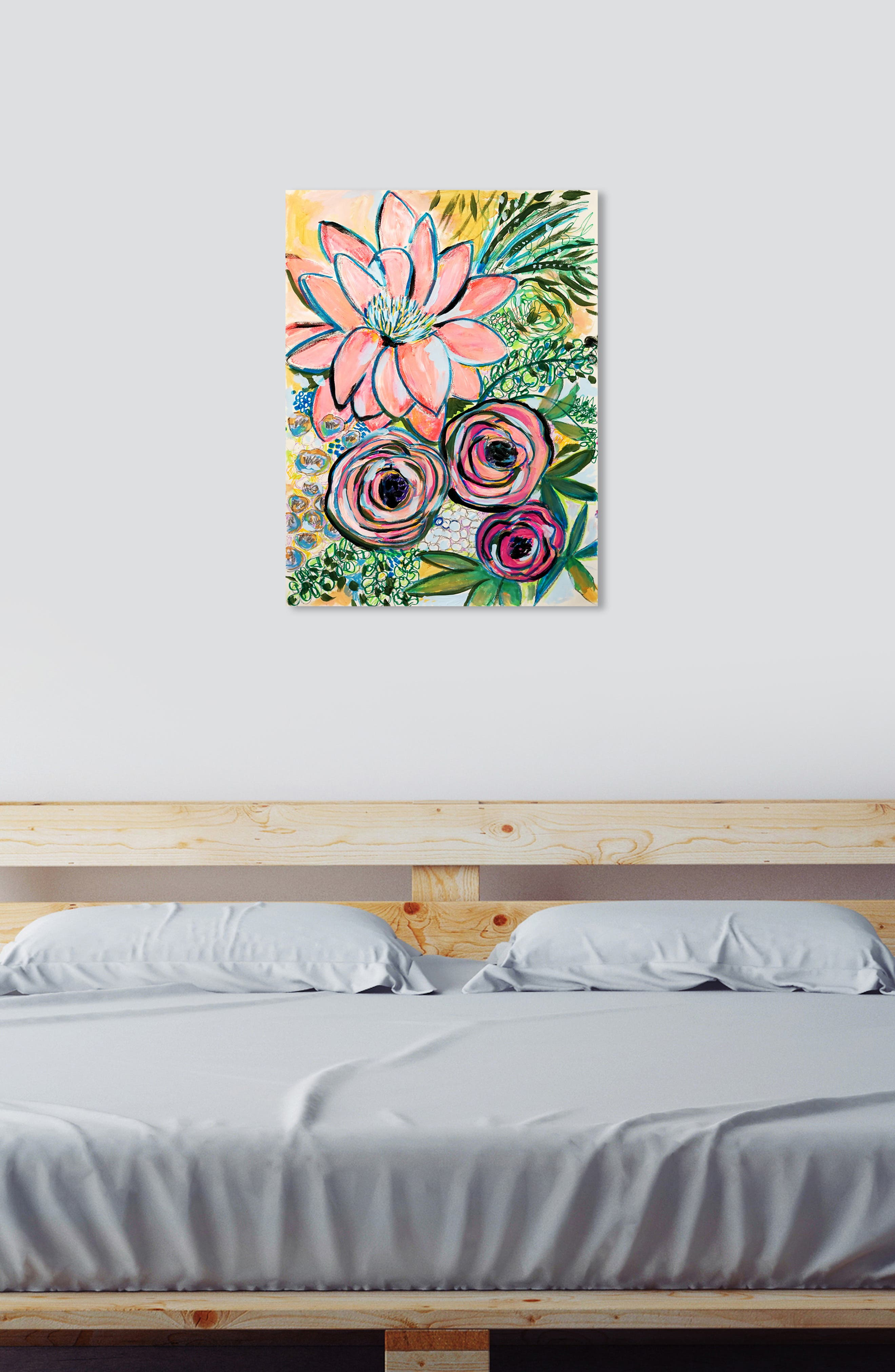 OLIVER GAL, Peonies Party of 2 Canvas Wall Art, Alternate thumbnail 5, color, GREEN PINK