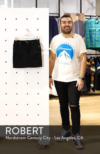 Teagan Denim Miniskirt, sales video thumbnail