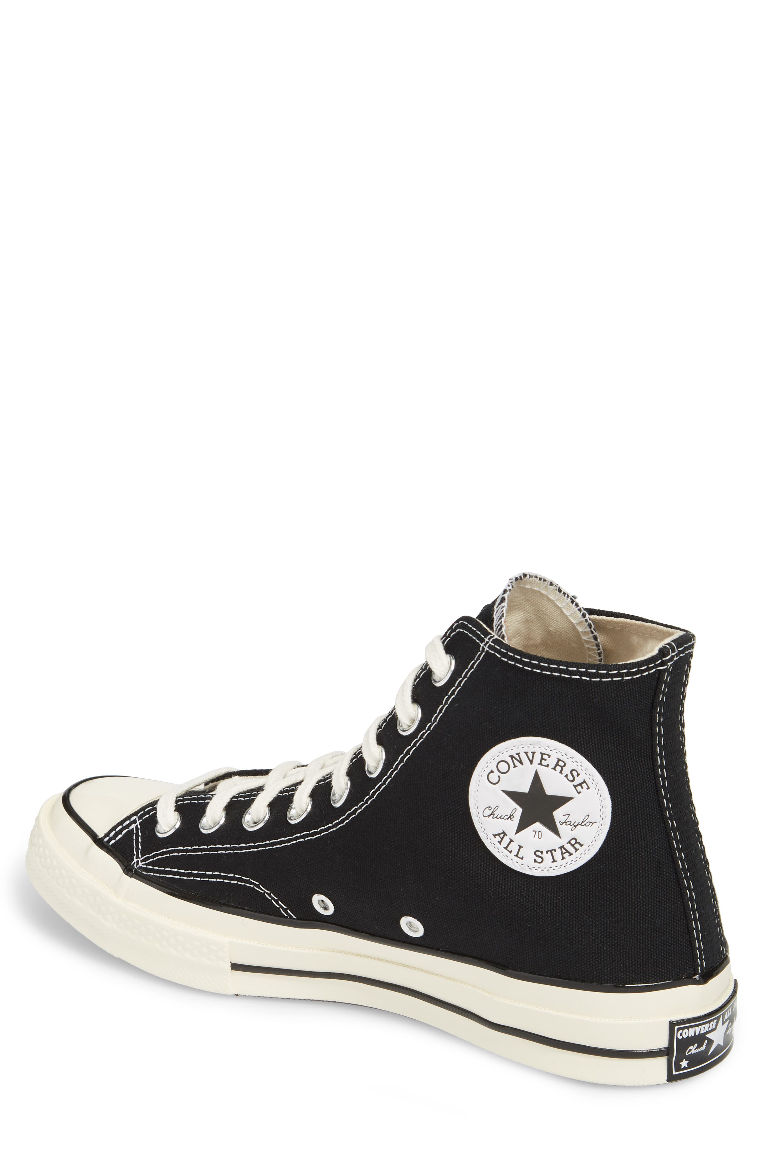CONVERSE, Chuck Taylor<sup>®</sup> All Star<sup>®</sup> 70 High Top Sneaker, Alternate thumbnail 2, color, BLACK
