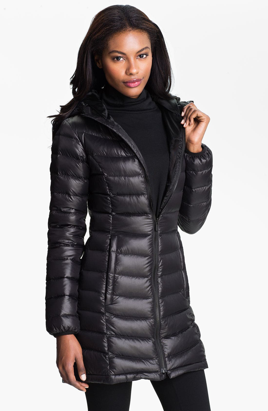 THE NORTH FACE 'Jenae' Hooded Down Jacket, Main, color, 001